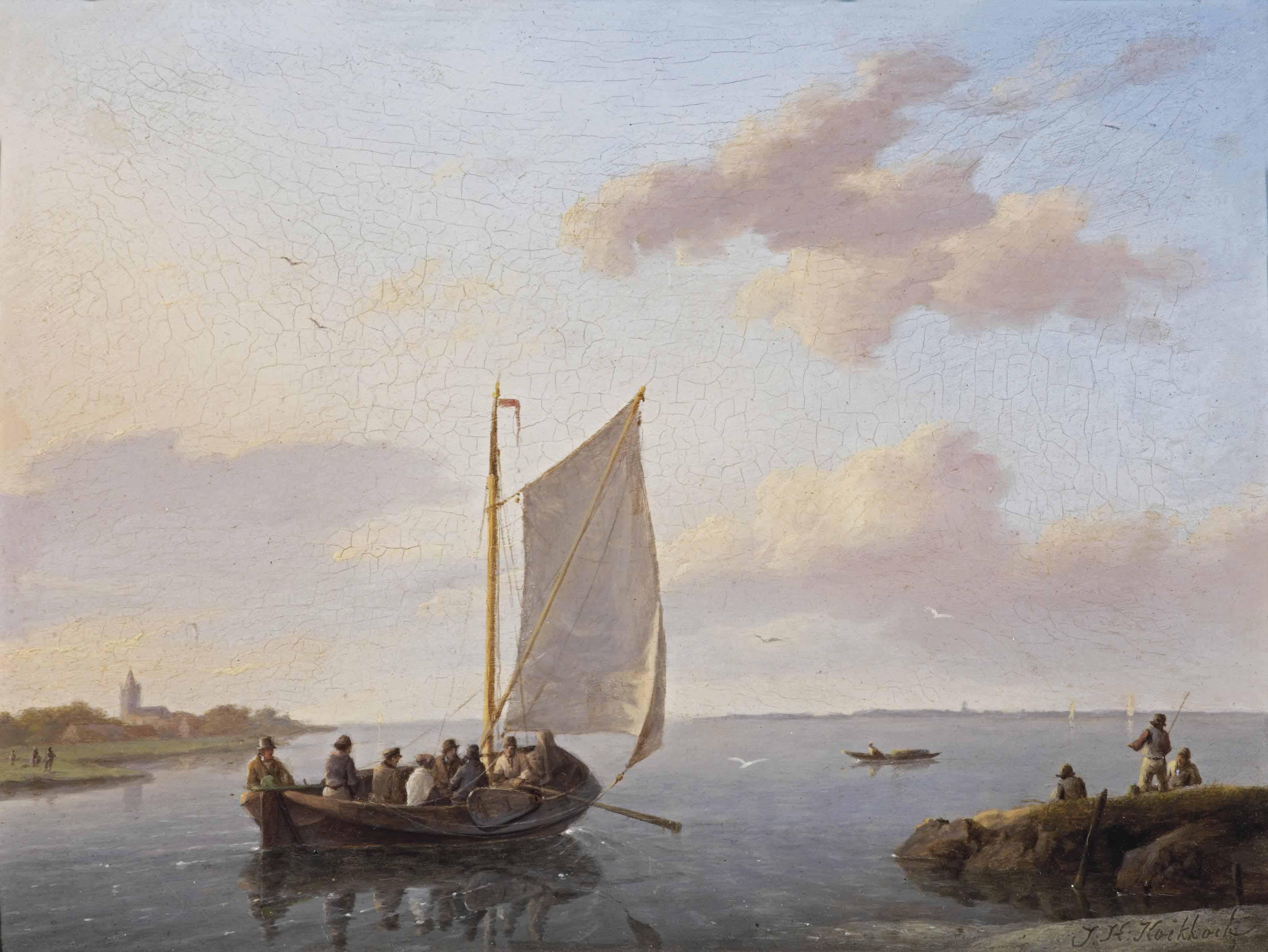 Sailing in a calm estuary