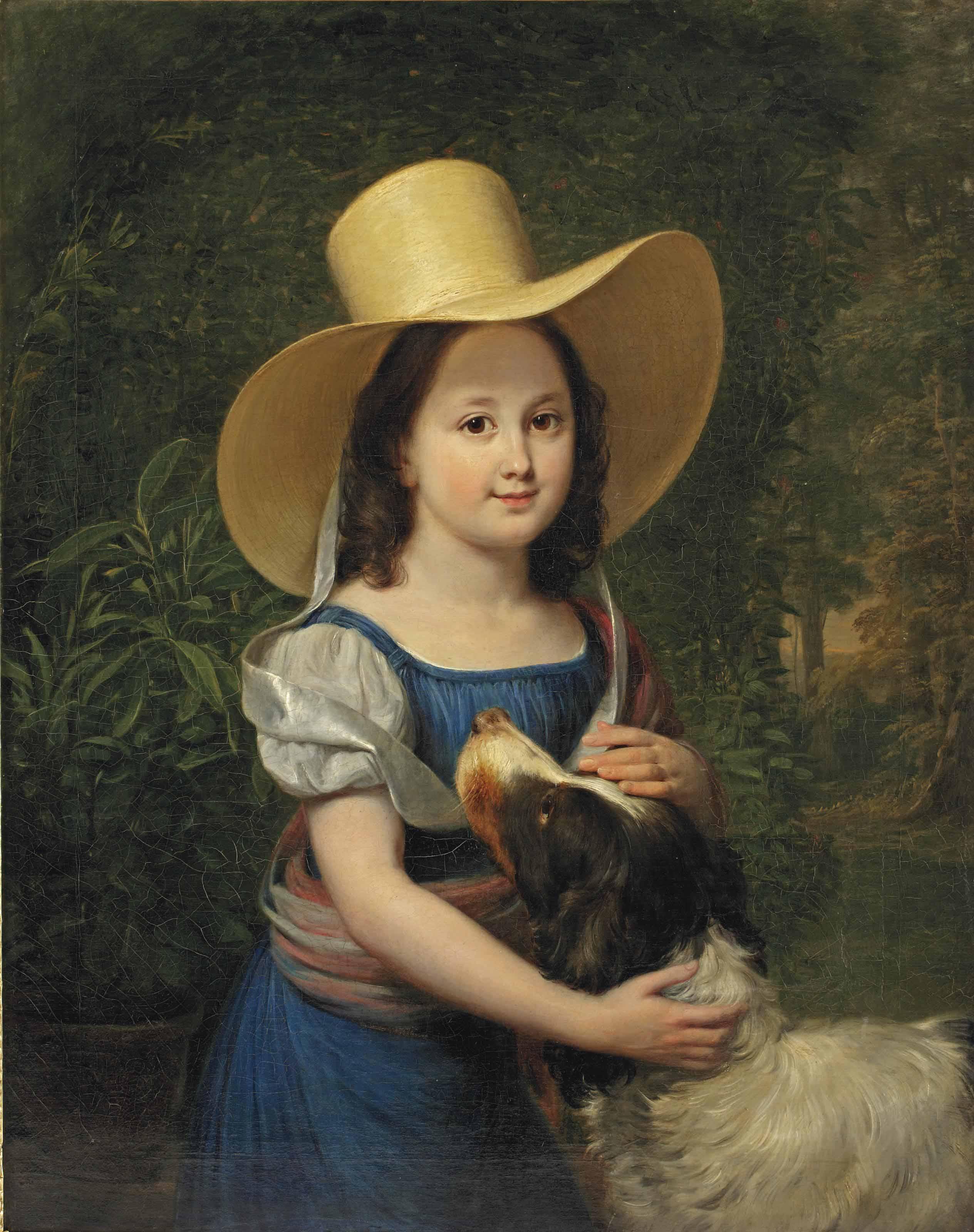 Portrait of the artist's daughter Frederica Wilhelmina Margaretha Elisabeth Pieneman (1817-1835)