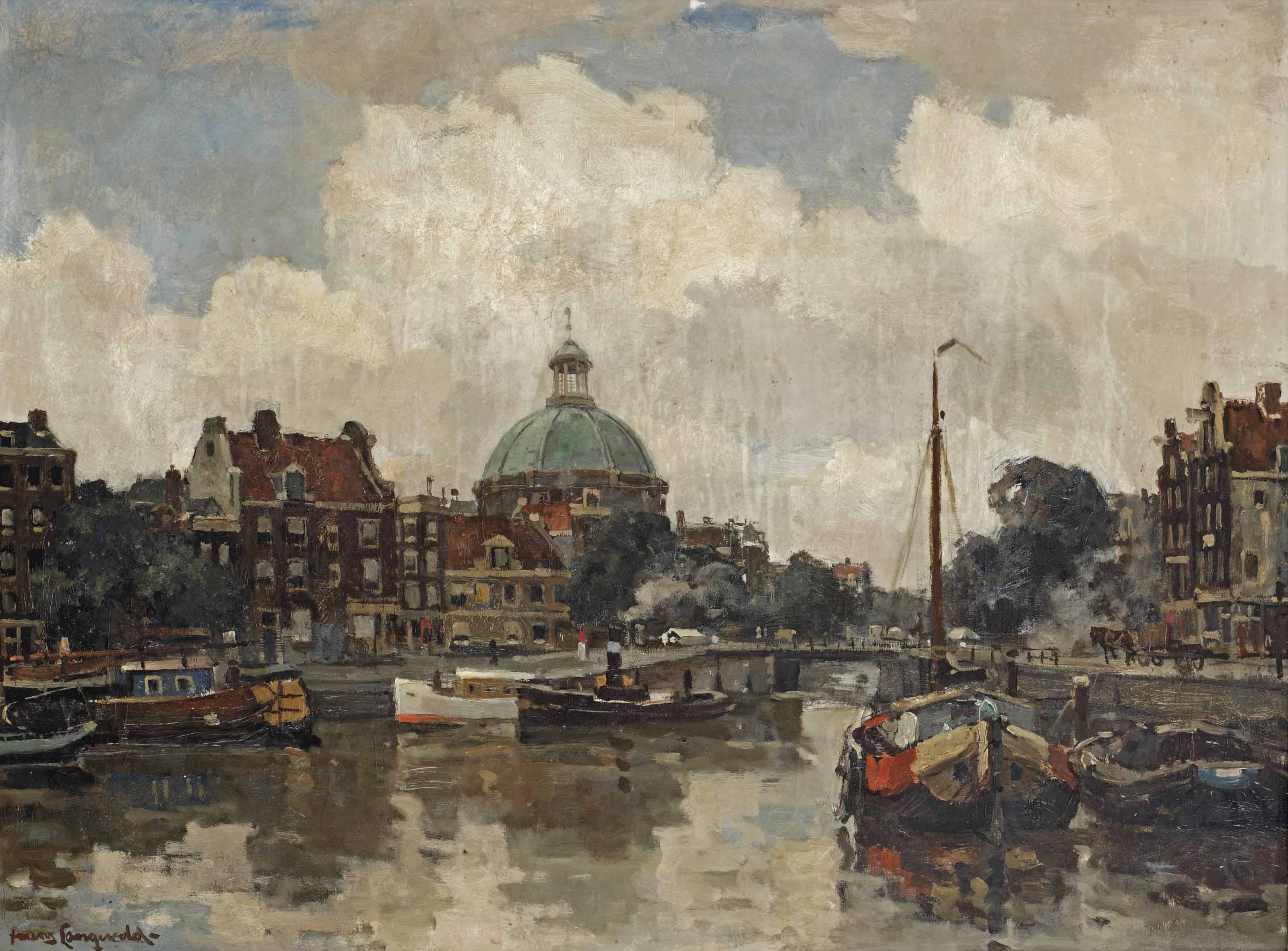 A view of the Lutherse Kerk, Amsterdam
