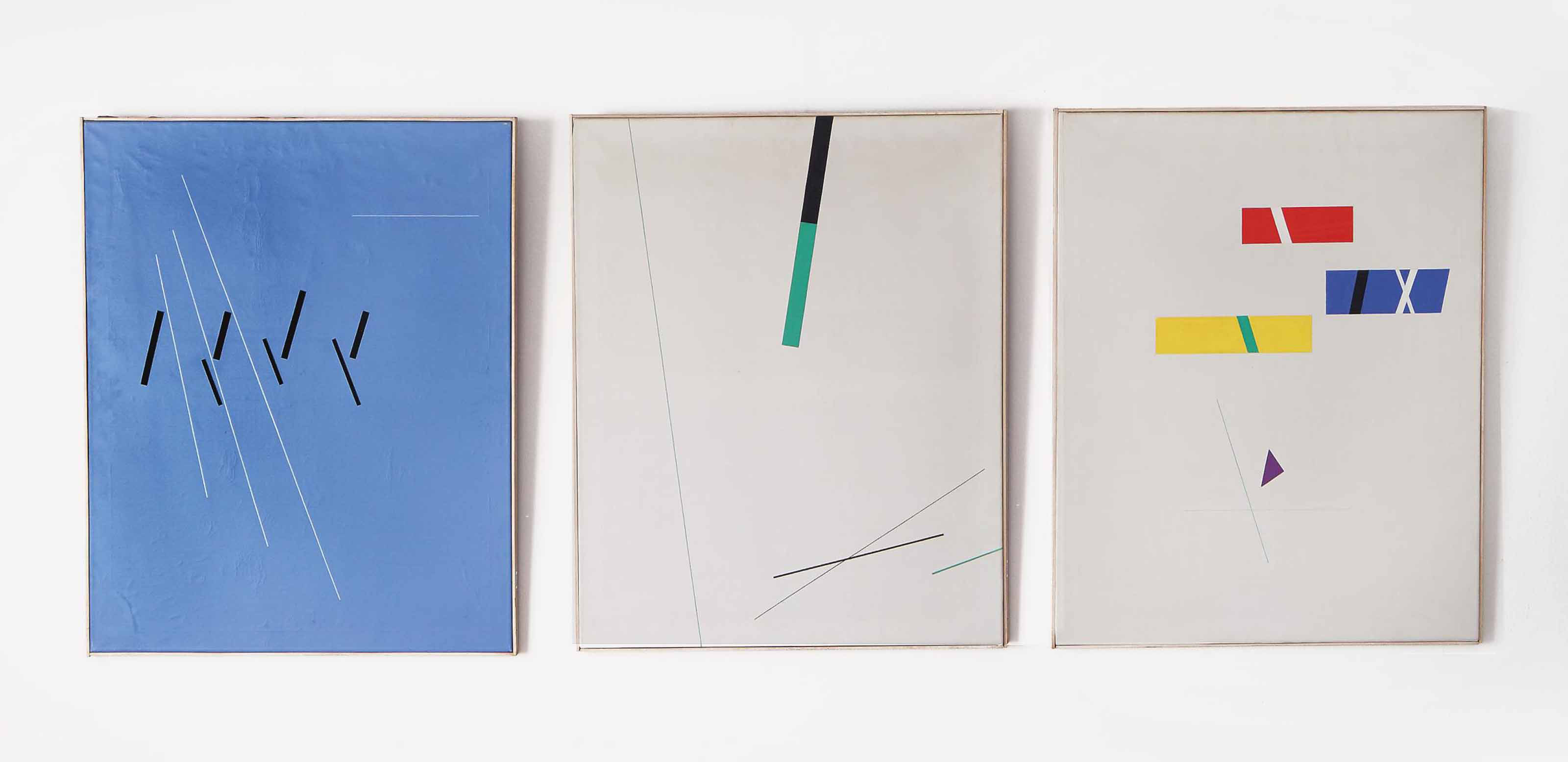 Composition No. 167 (a triptych)