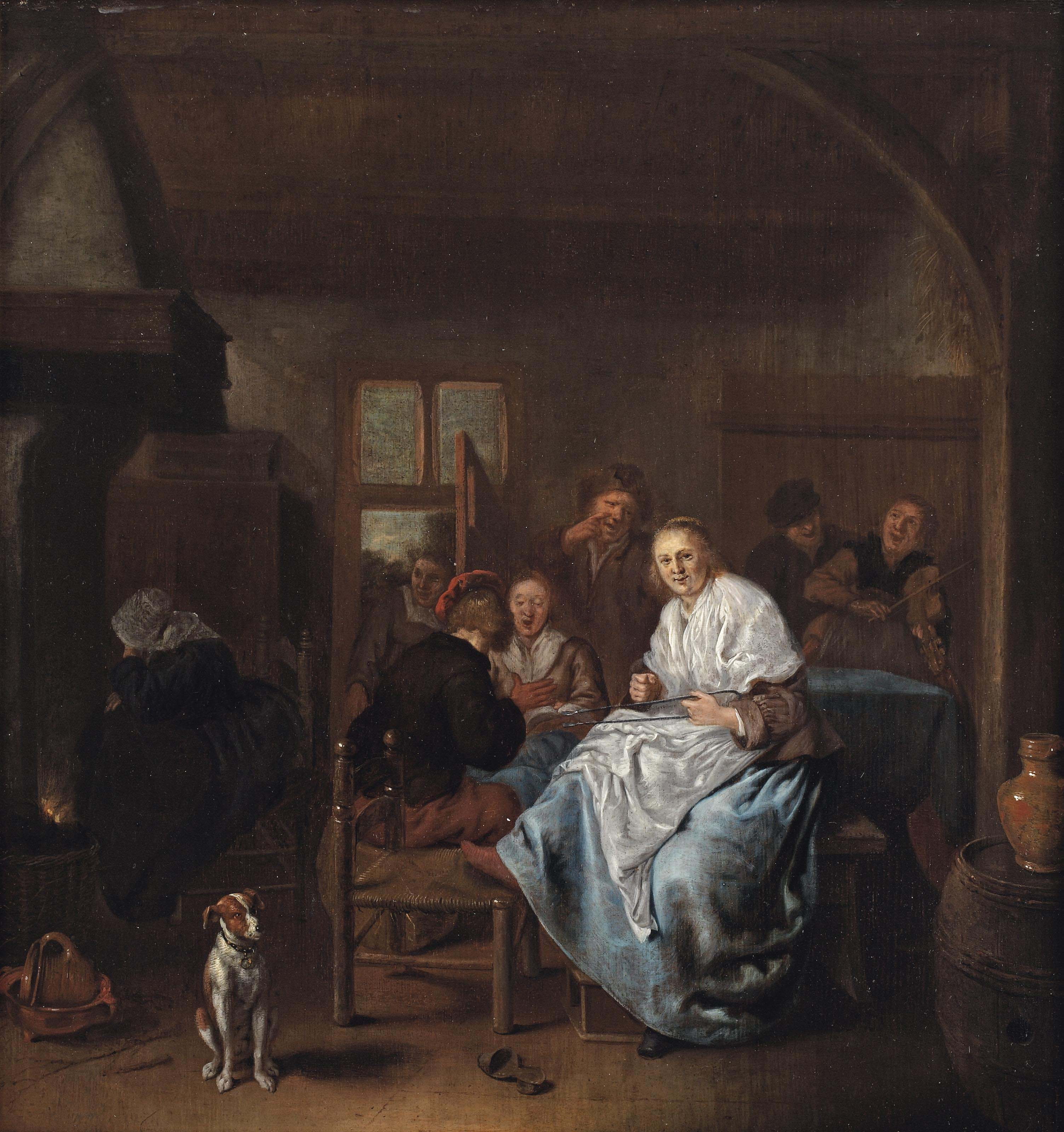 A kitchen interior with a merry company