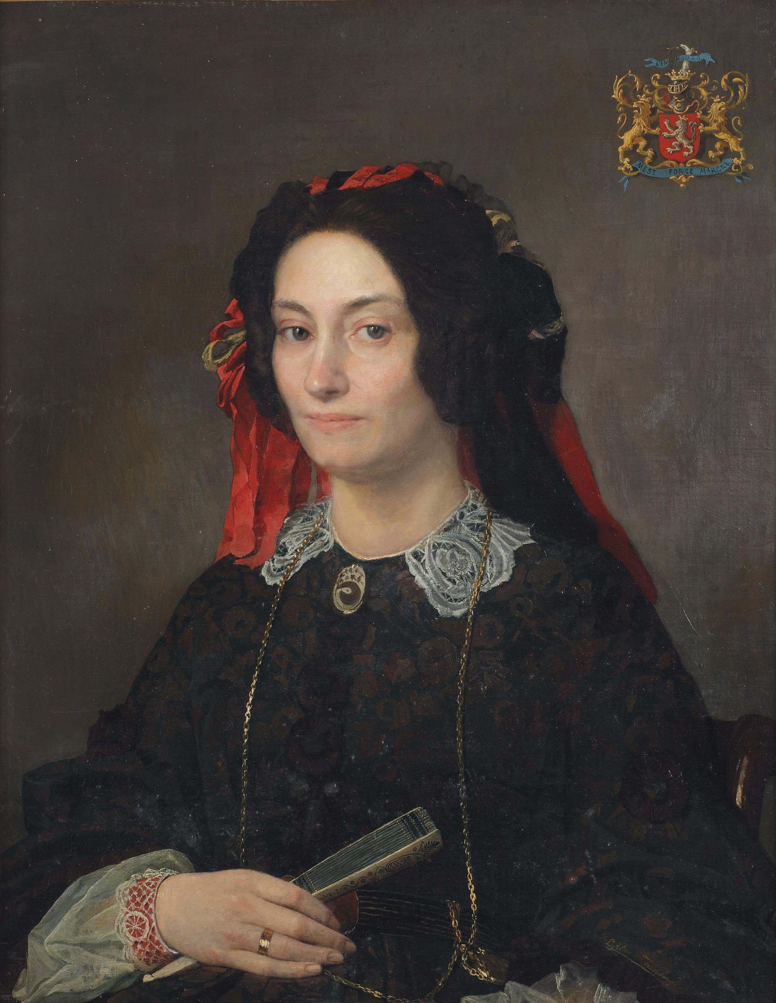 Portrait of Marie Joséphine Jacoba van Marcke de Lummen (1818-1894)