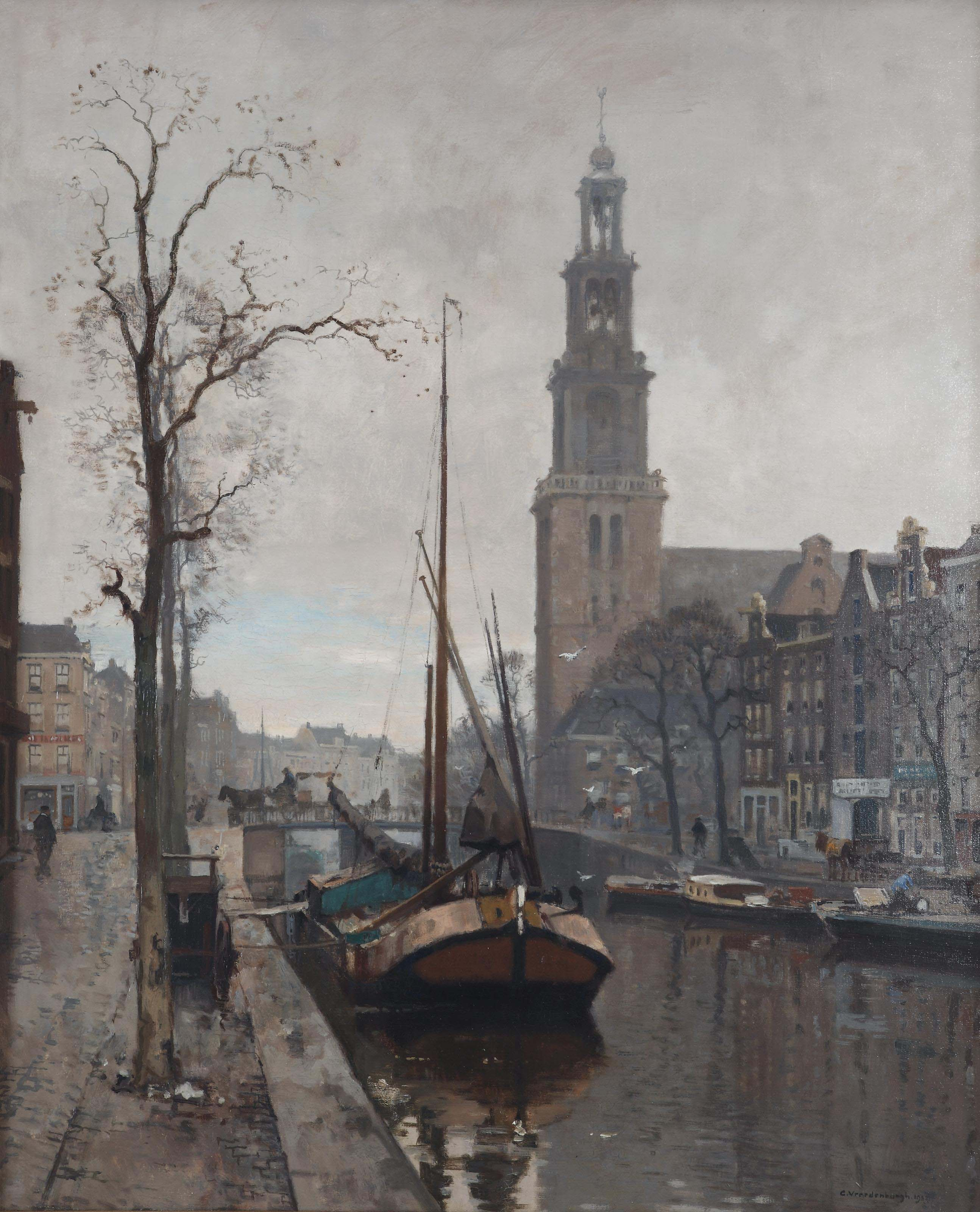 View of the Westerkerk with the Rozengracht and the Prinsengracht, Amsterdam