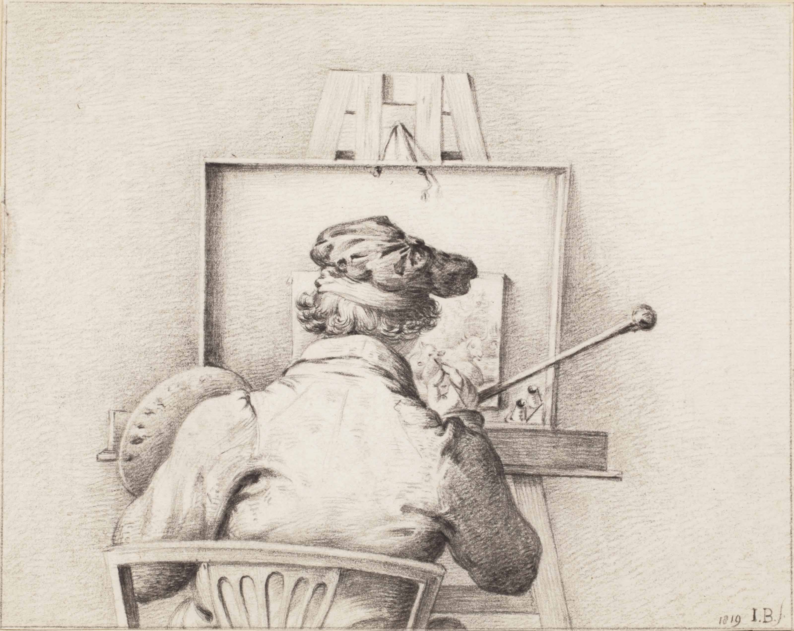 A painter at his easel