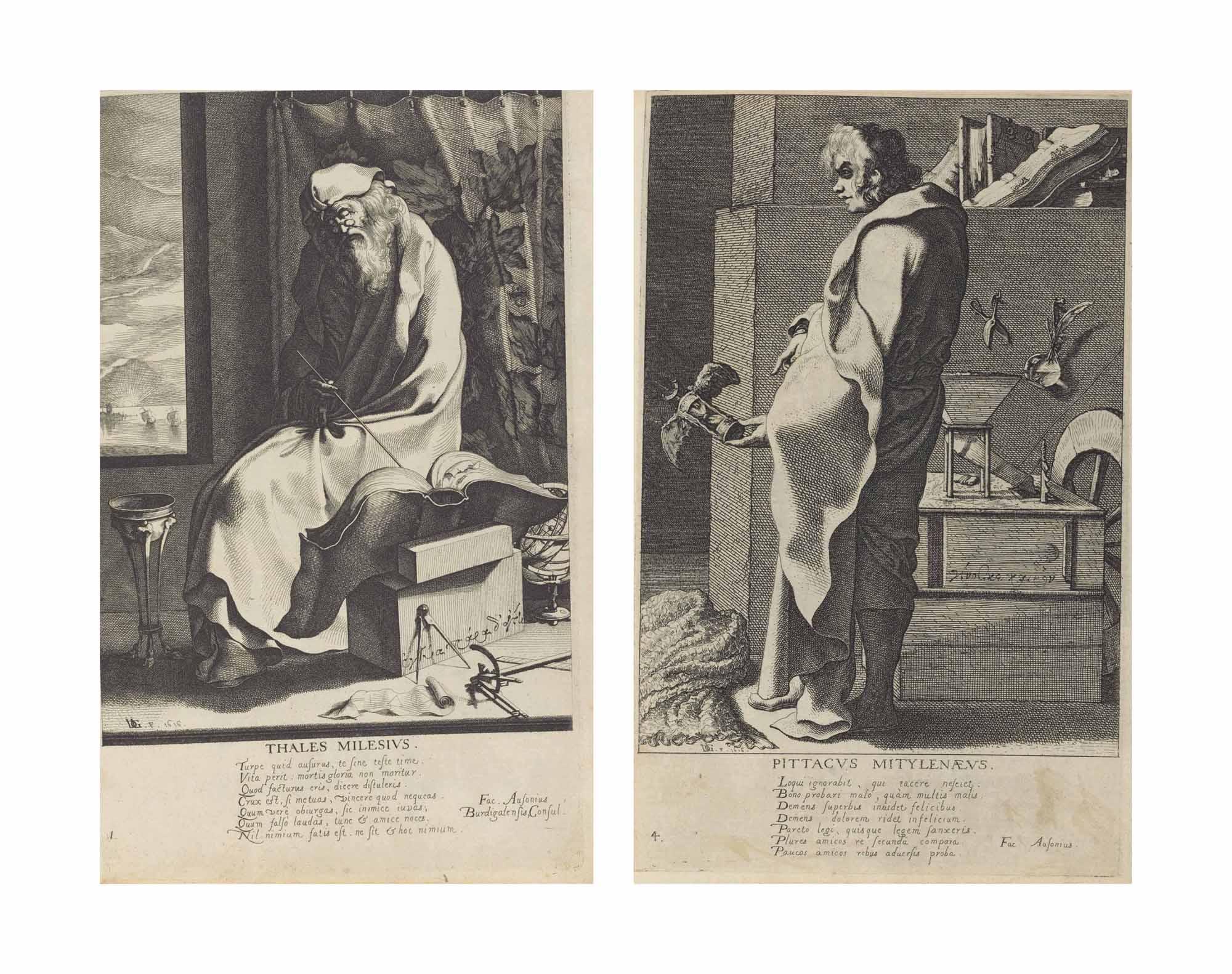 The Seven Wise Men of Greece (New Hollstein 5-11)
