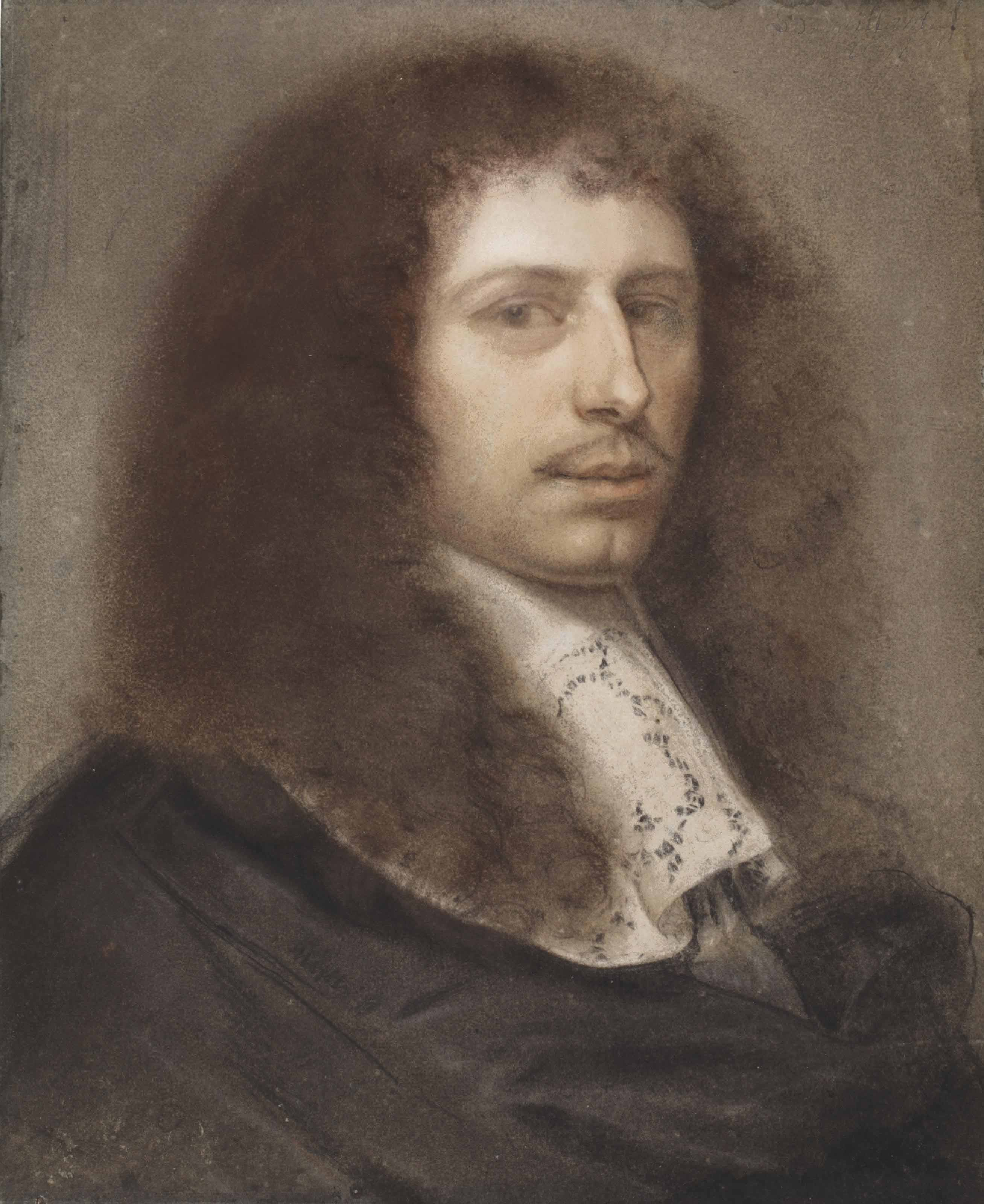 Portrait of a young man, bust-length, turned to the right, in a black doublet and white lace collar