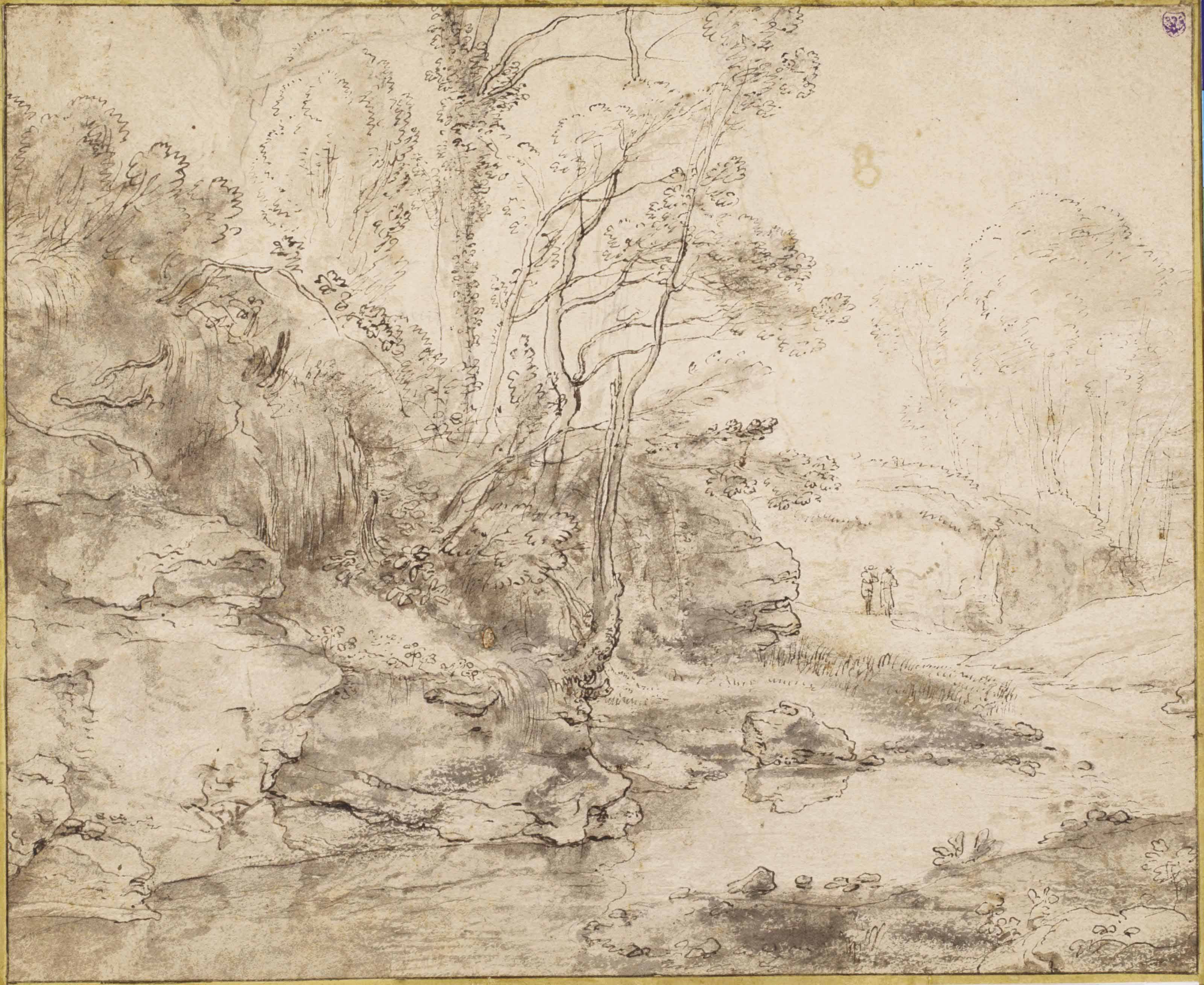 A stream in a hilly landscape