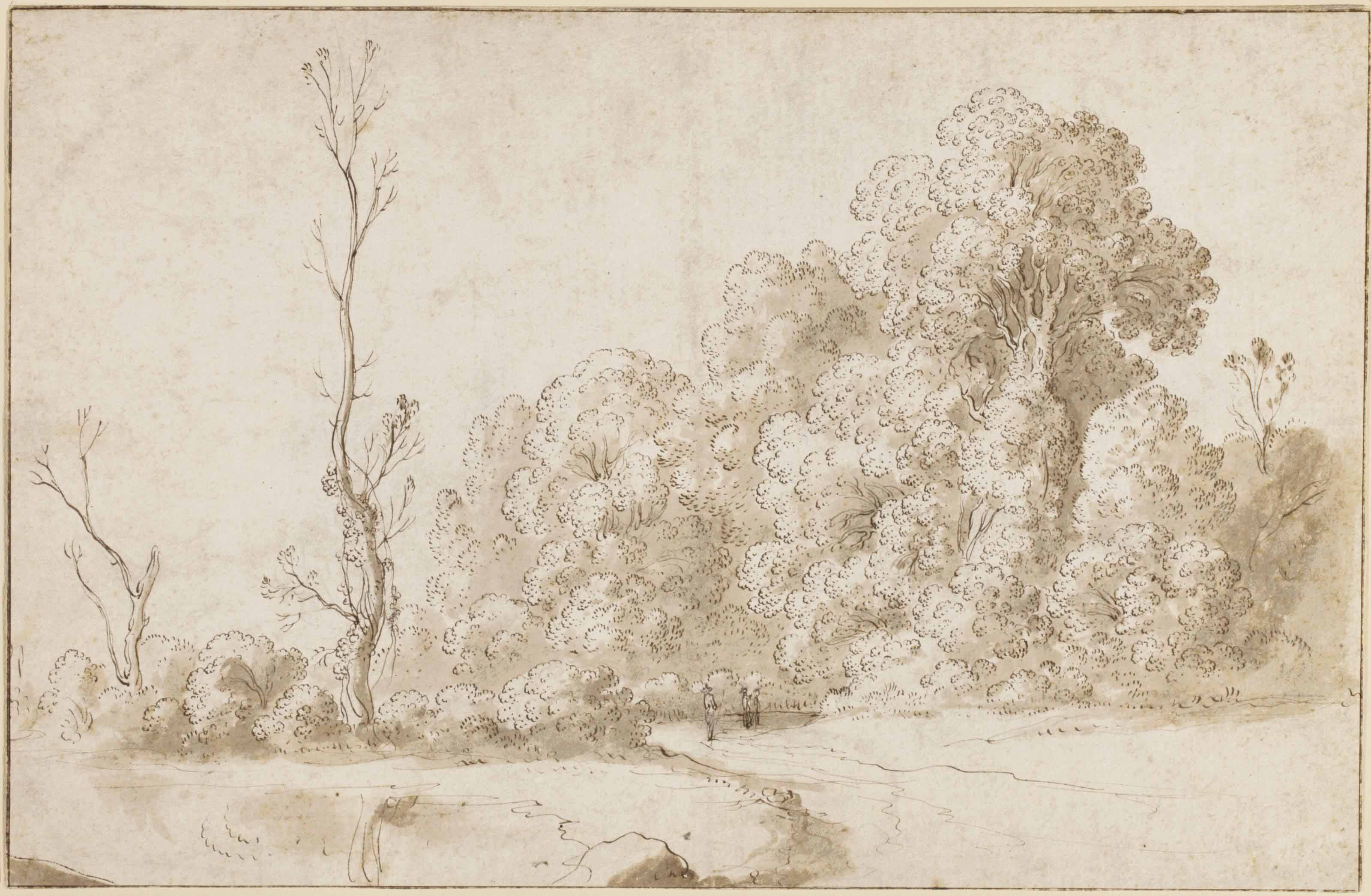 A wooded landscape (recto); Another study of the same (verso) (pl. 11)
