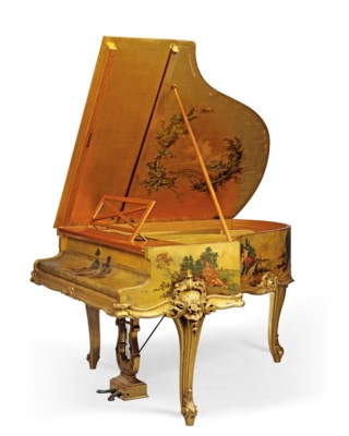 A French Giltwood And Vernis Martin Piano A Queue | The Case By