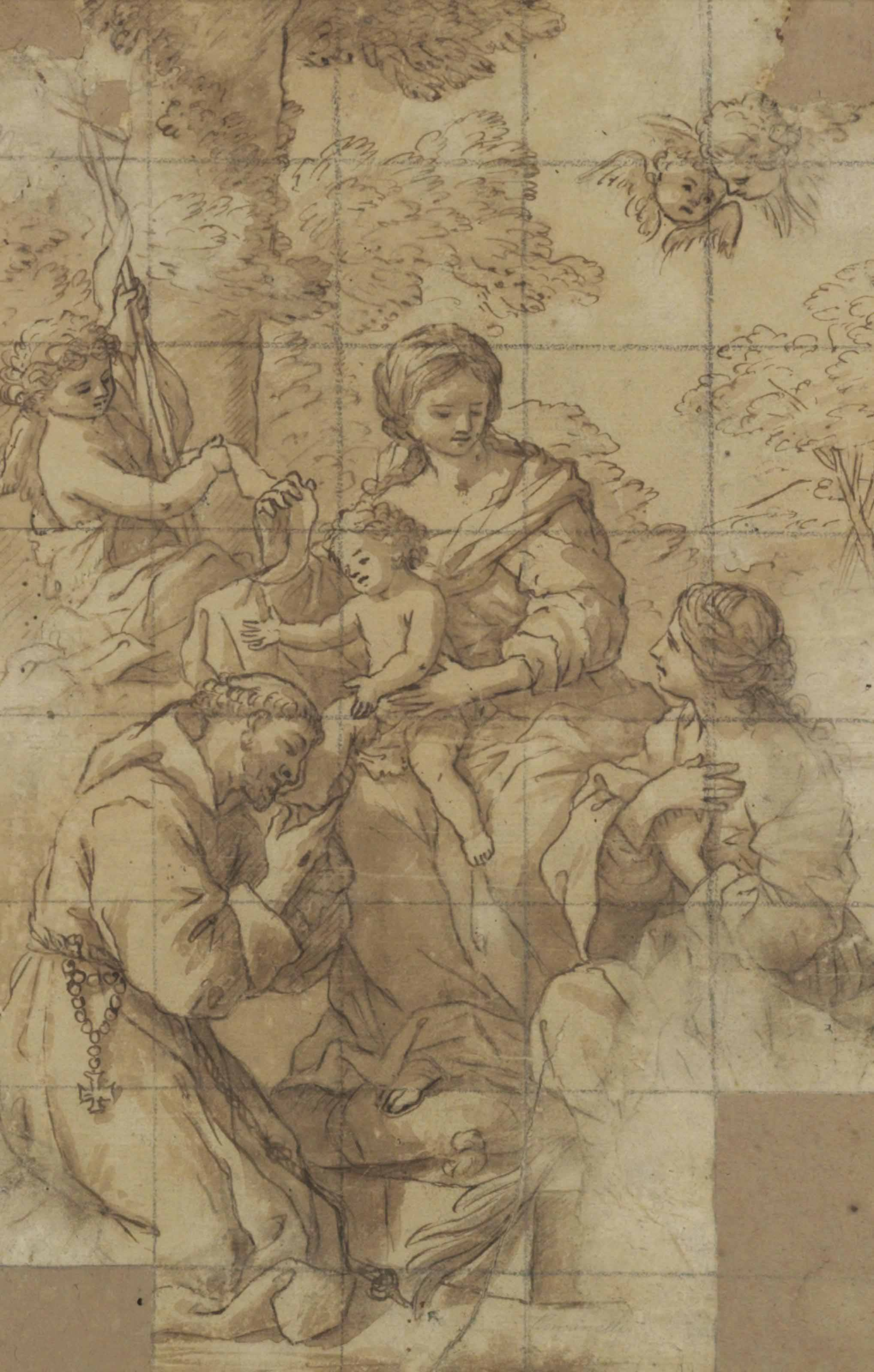 The Madonna and Child with the Infant Baptist and Saints Francis and Catherine
