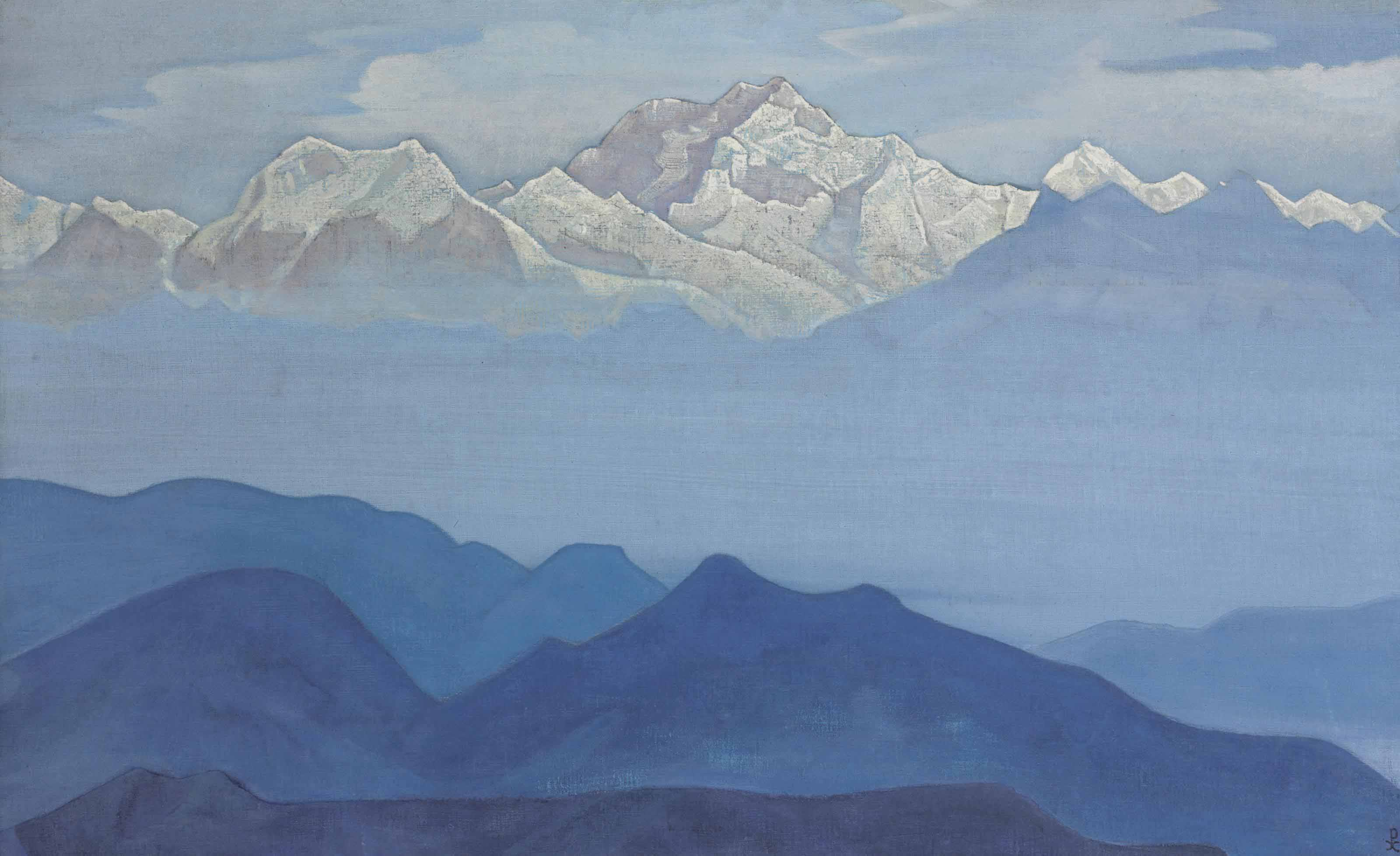 Himalayas from the Sikkim series