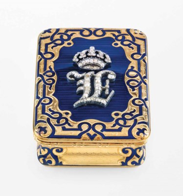A FRENCH JEWELLED ENAMELLED GO
