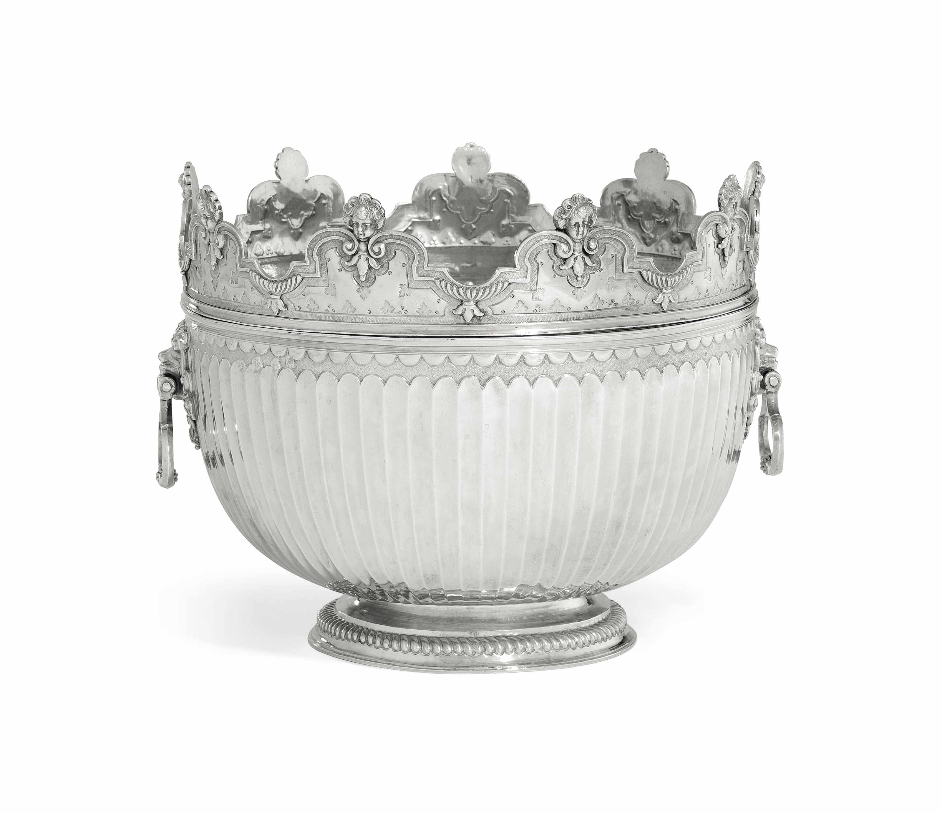 A WILLIAM III SILVER MONTEITH