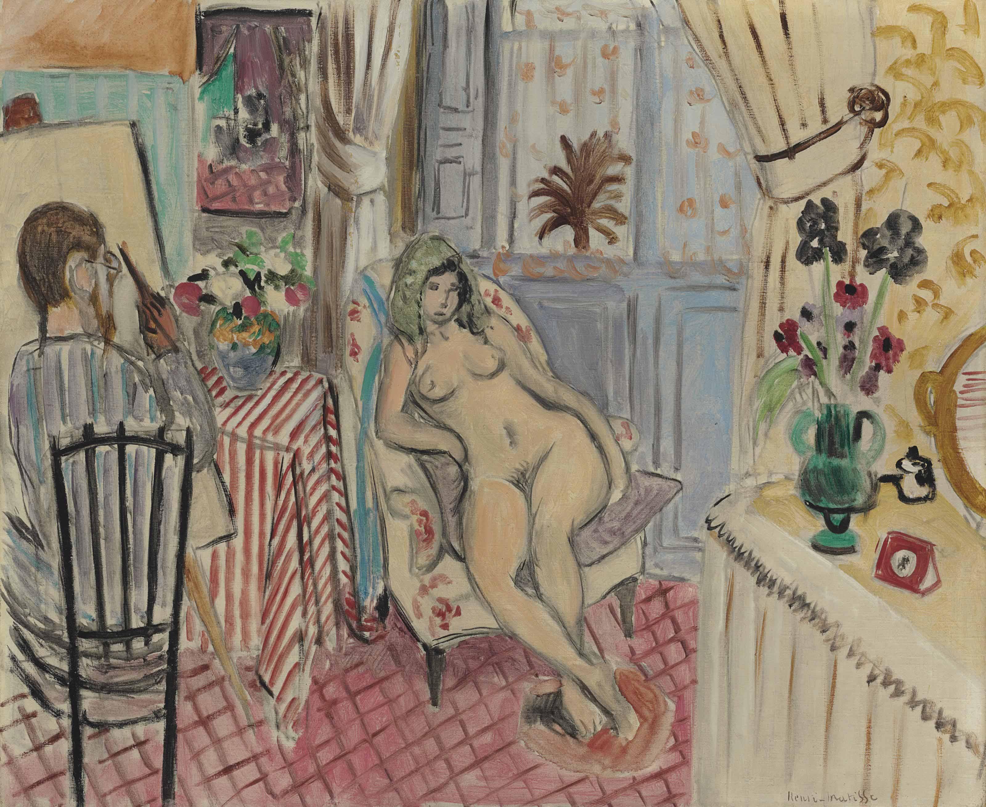 L'artiste et le modèle nu
