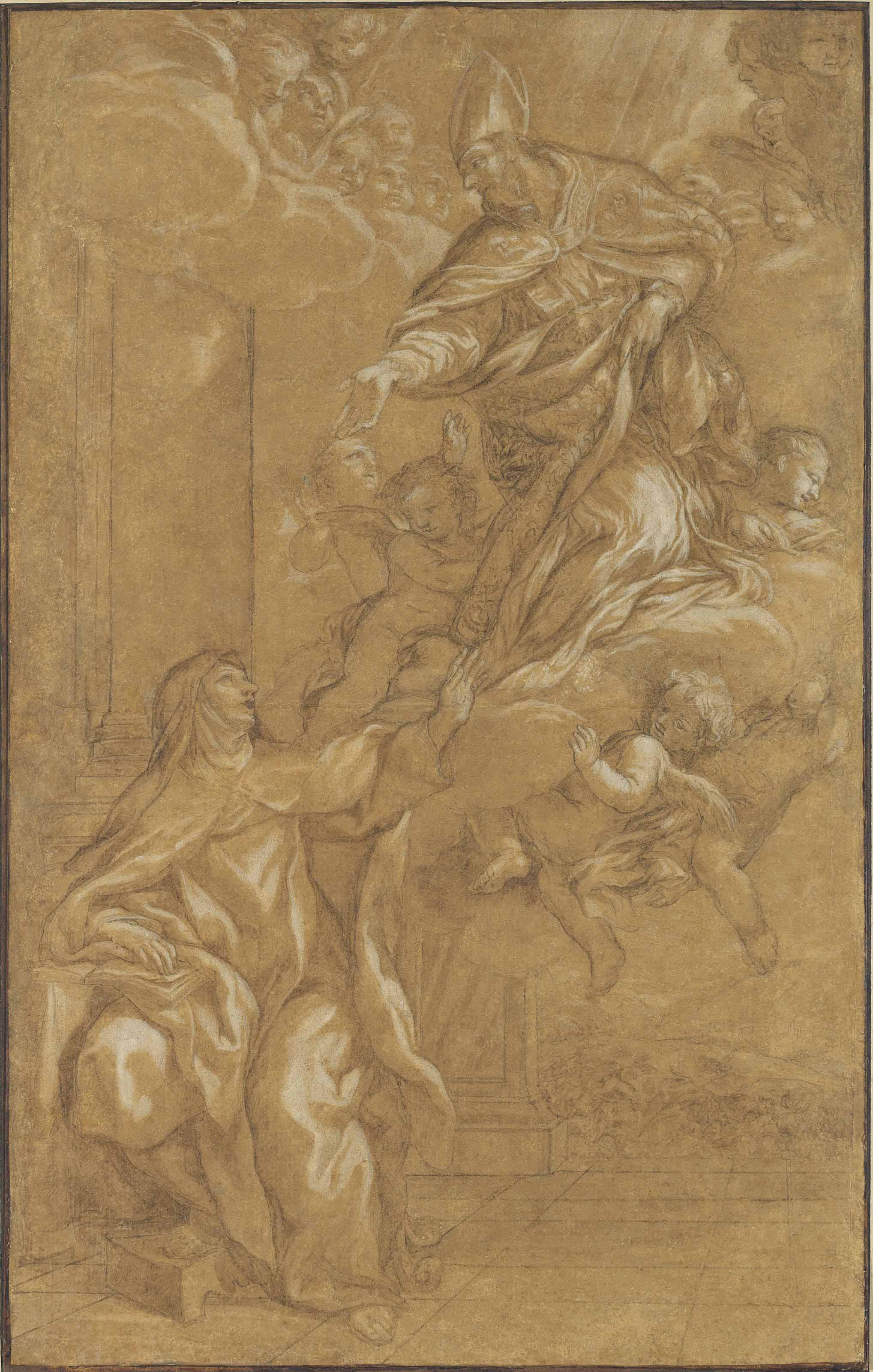 Saint Augustine appearing to Saint Teresa of Ávila