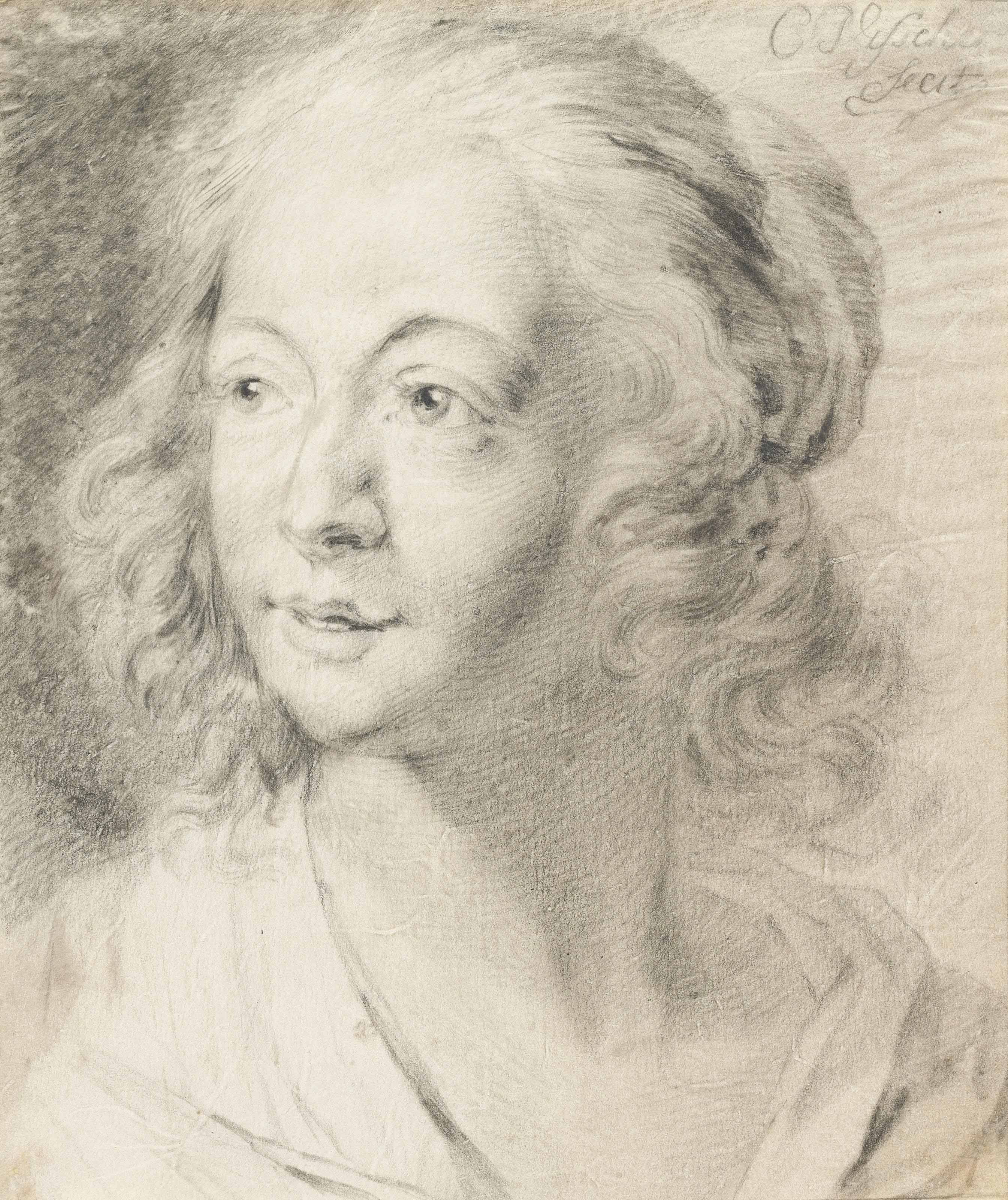 Head of a young woman looking to the left