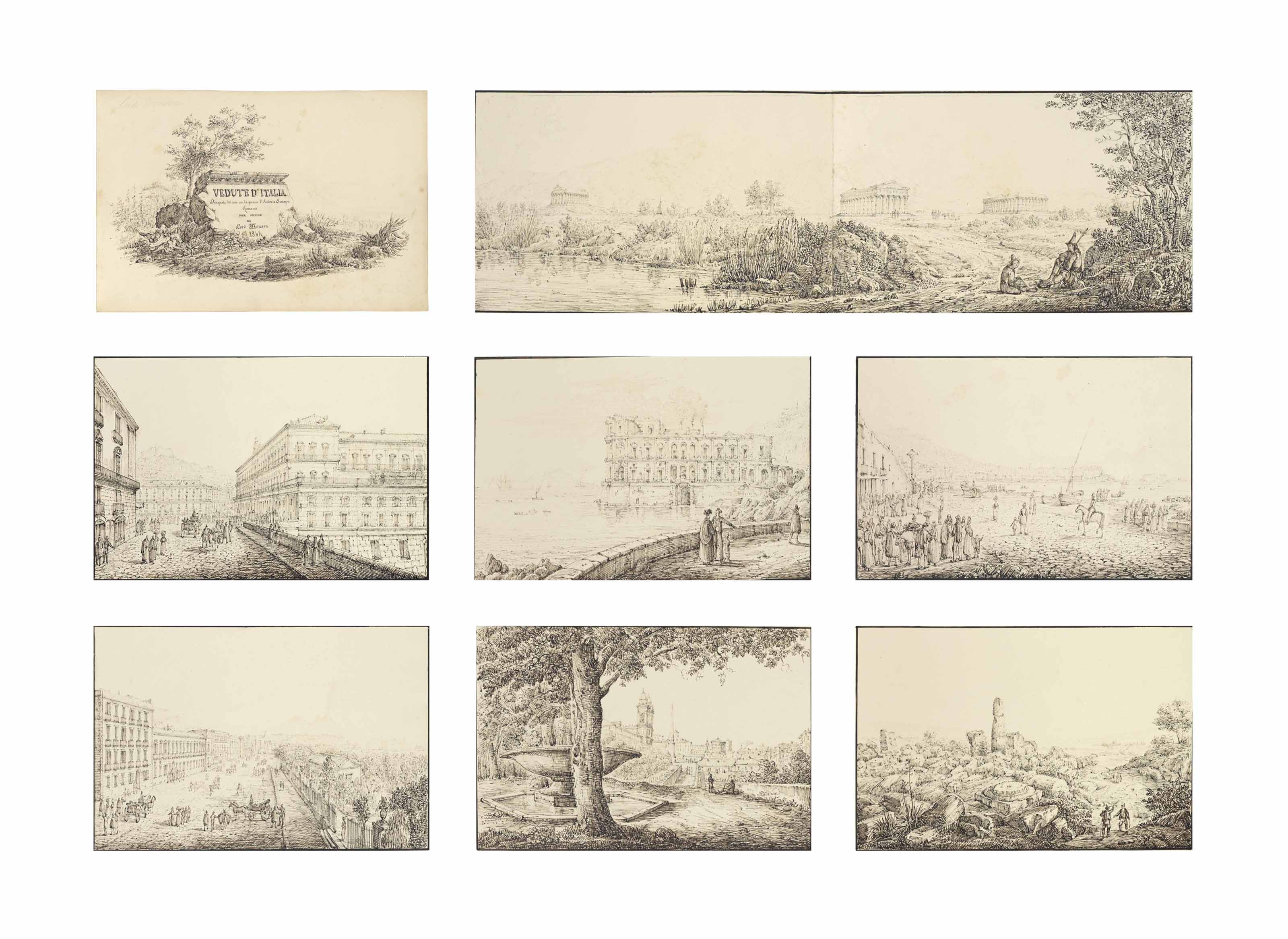 'Vedute d'Italia': An album of 83 views mainly of Italy, but also of Switzerland and Southern France