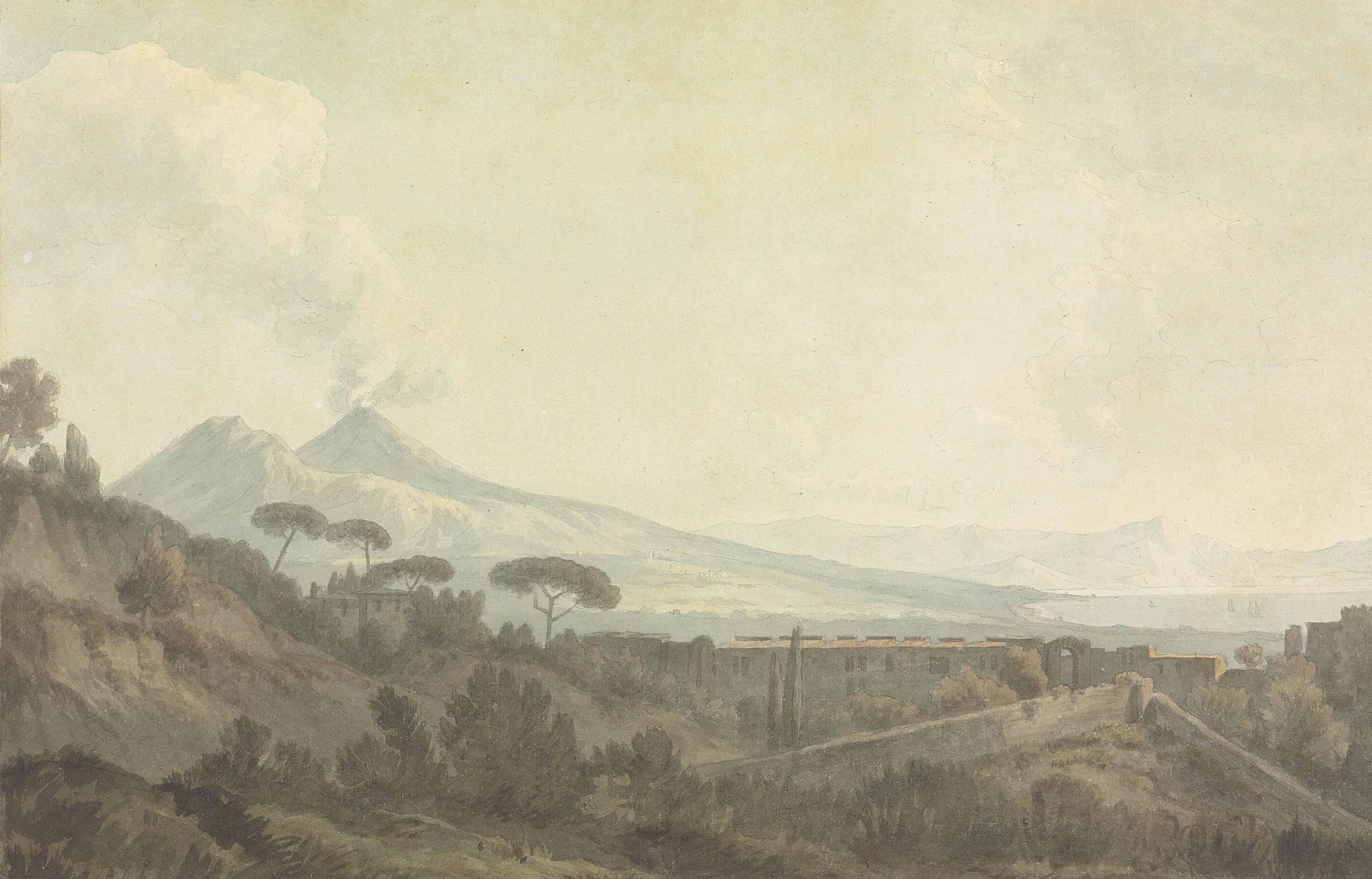 View of Vesuvius, Naples, Italy
