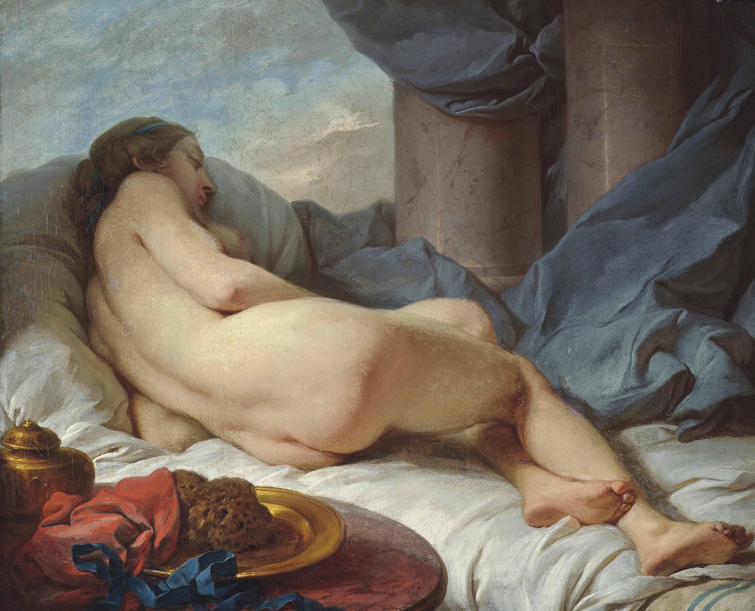 Lot 218 & Charles-Michel-Ange Challe (Paris 1718-1778)   Venus reclining ... islam-shia.org