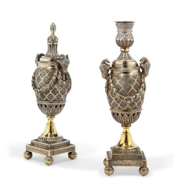 A PAIR OF ANGLO-INDIAN SILVER