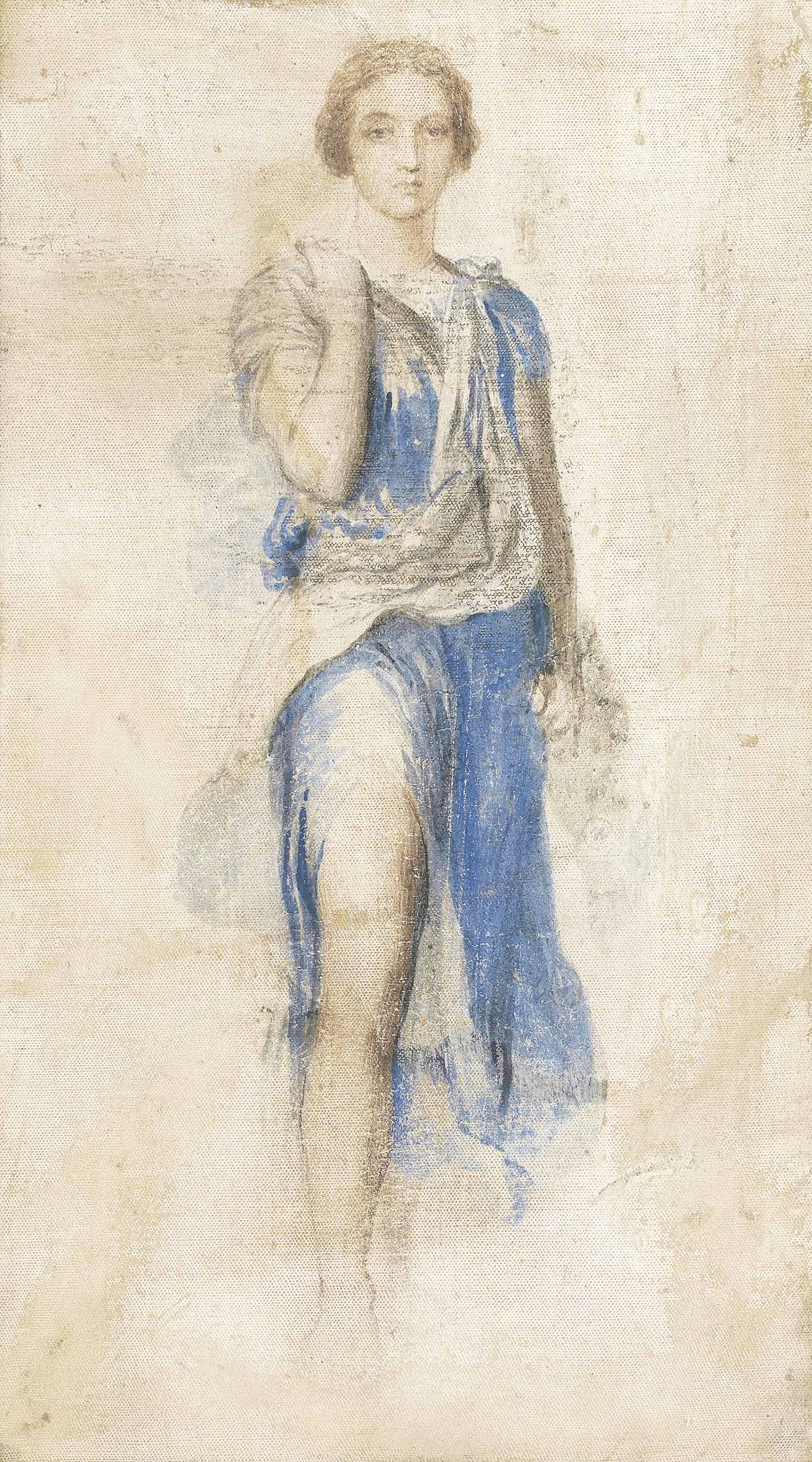Study for the figure of Diana in the fresco 'Apollo and Diana'