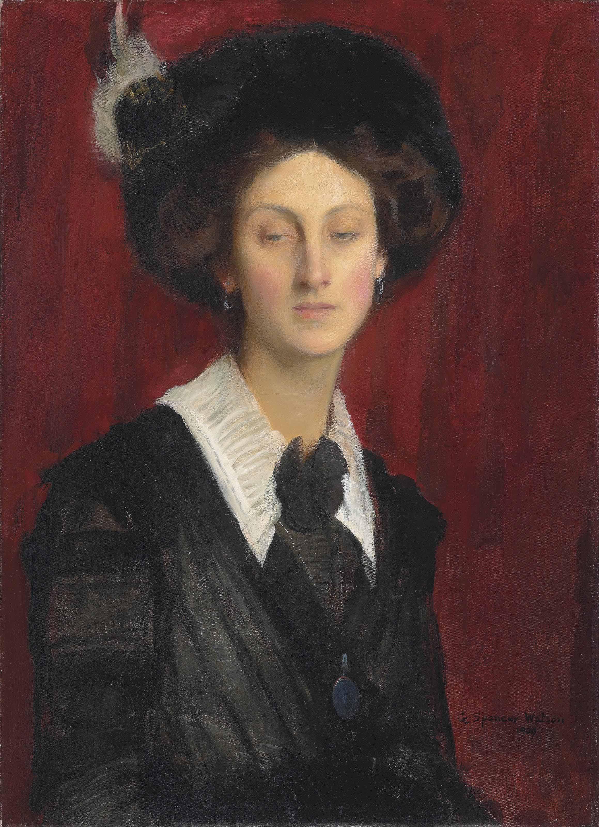 Hilda in a black hat