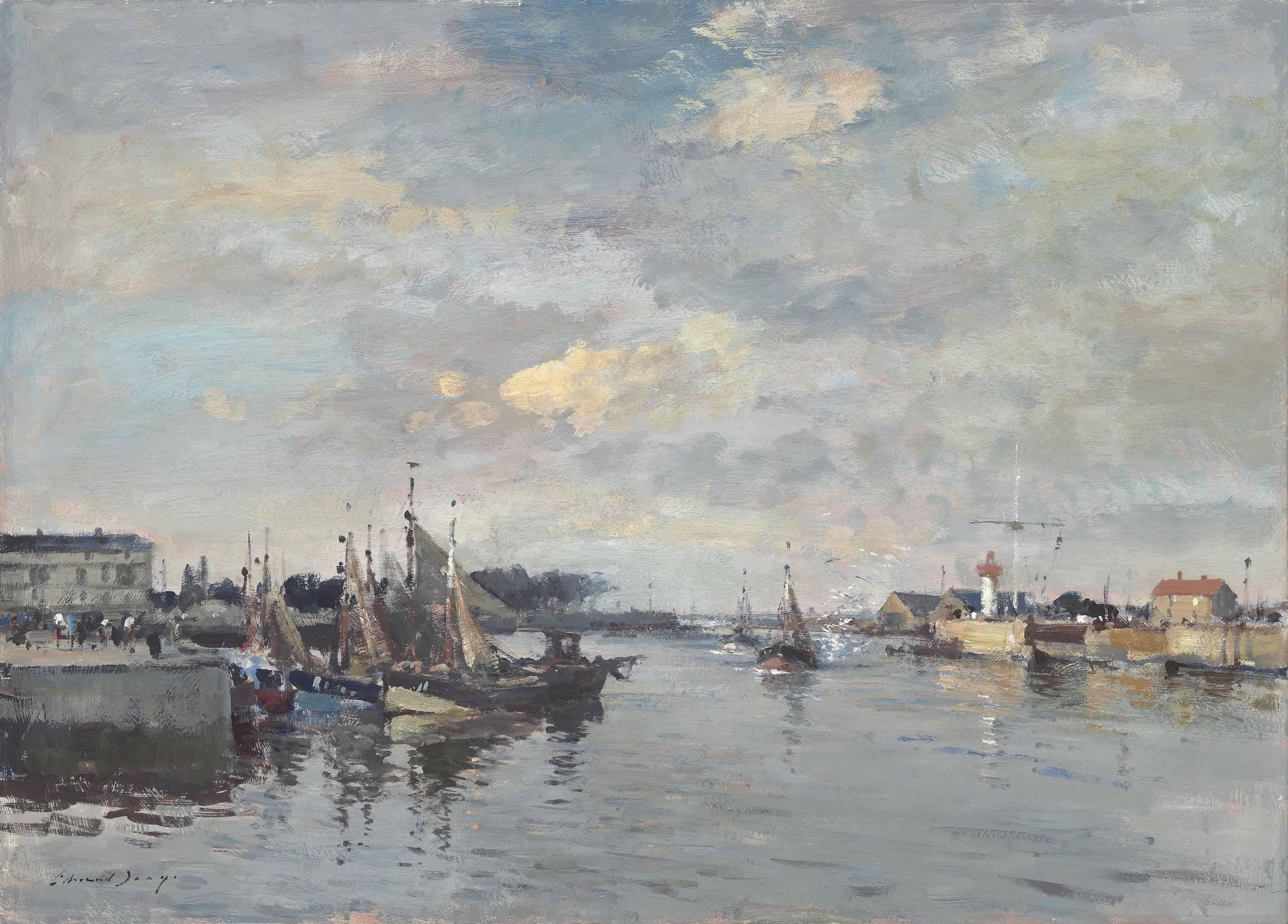 Fishing boats, Honfleur