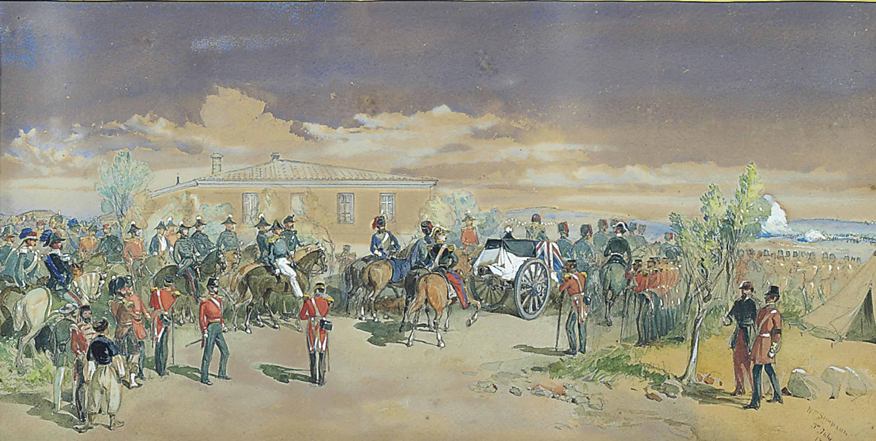 The funeral procession of Lord Raglan, 1855