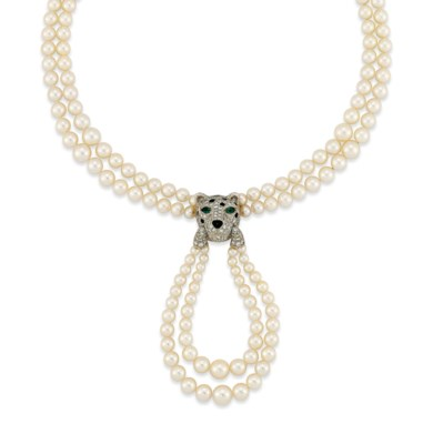 A CULTURED PEARL AND DIAMOND '