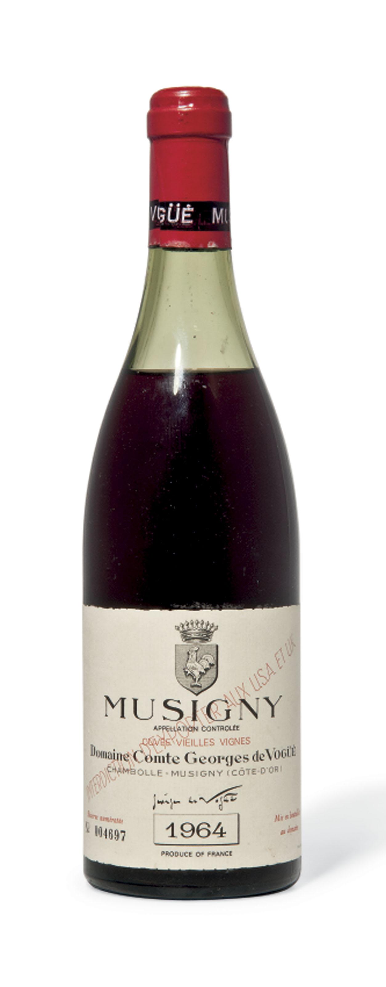 Comte Georges de Vogüé Musigny Vieilles Vignes 1964