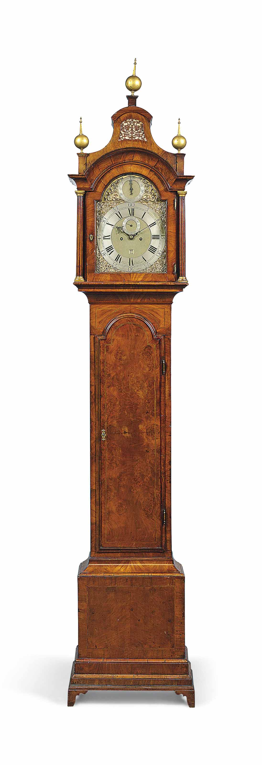 A GEORGE III MAHOGANY EIGHT-DAY STRIKING LONGCASE CLOCK