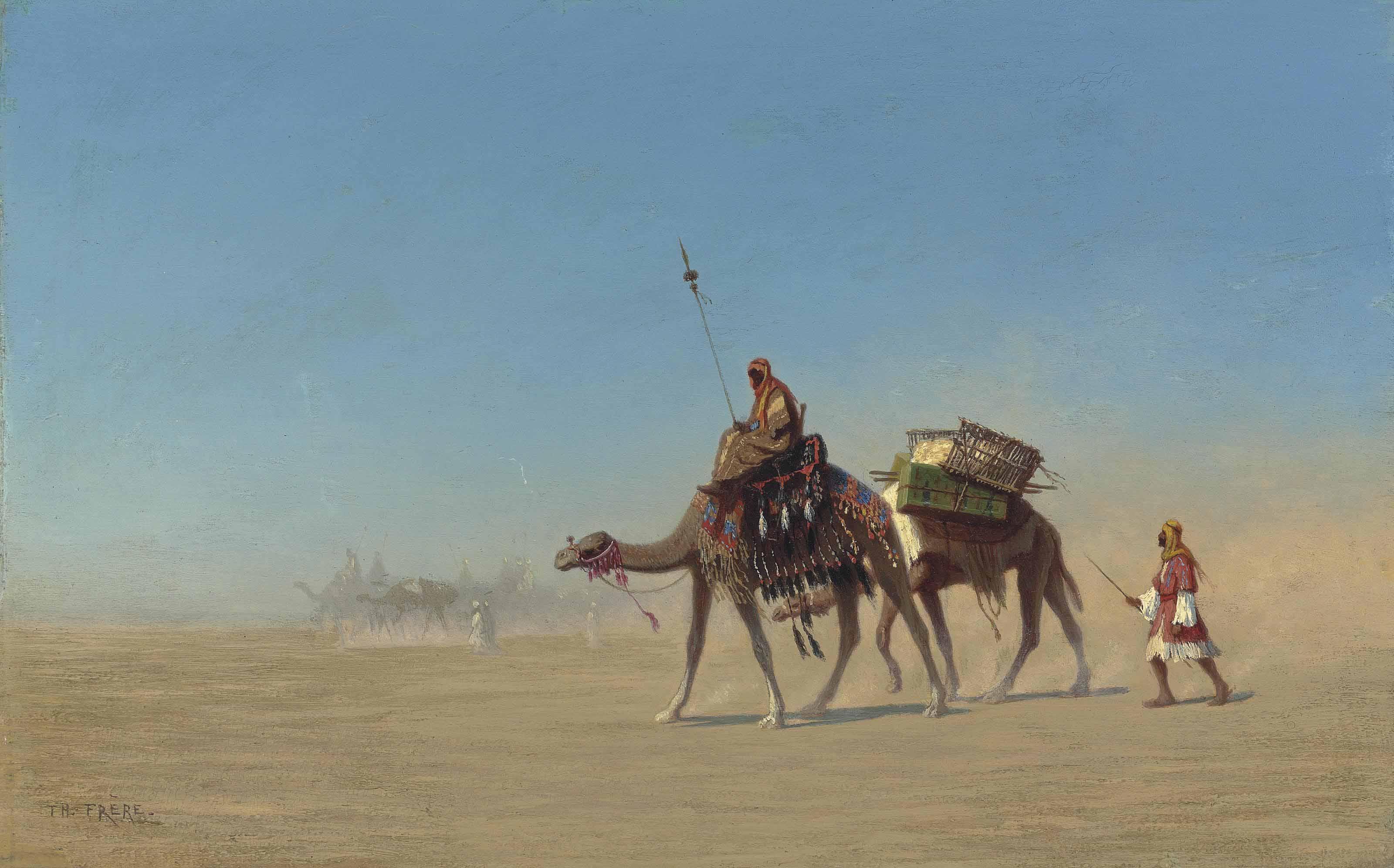 Une caravane, Désert d'Arabie
