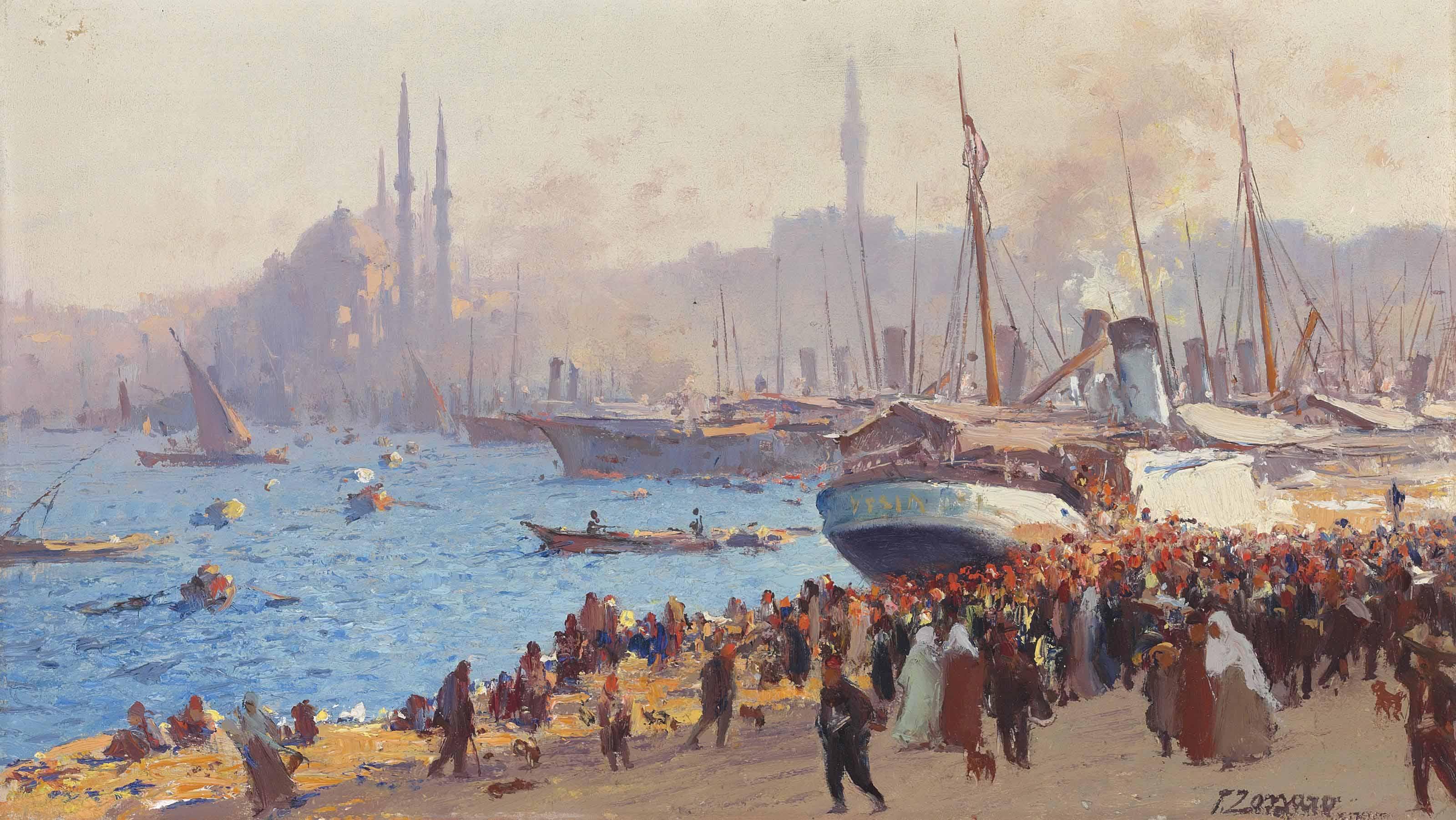 The shore at Galata, Constantinople