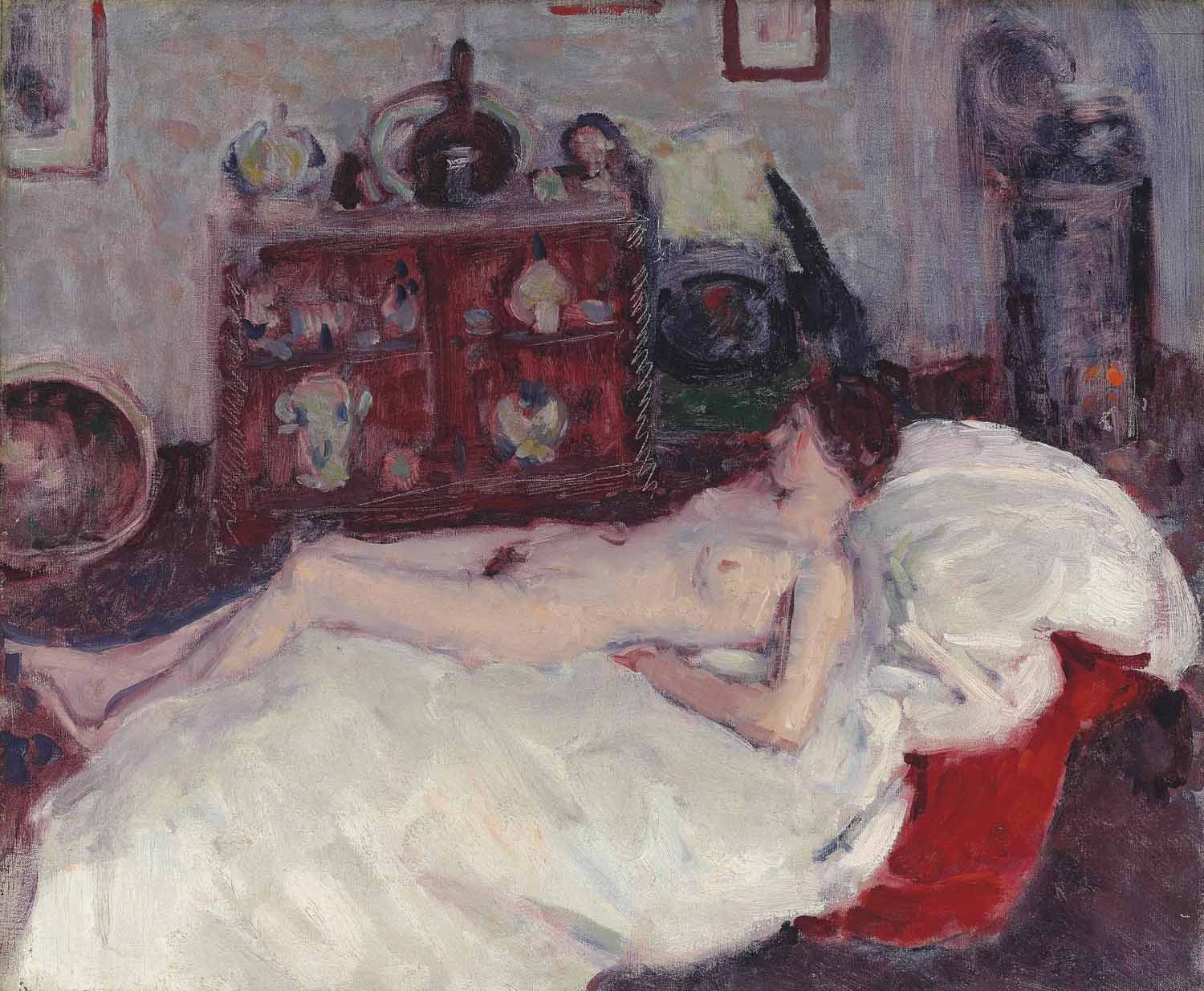 Nude with stove