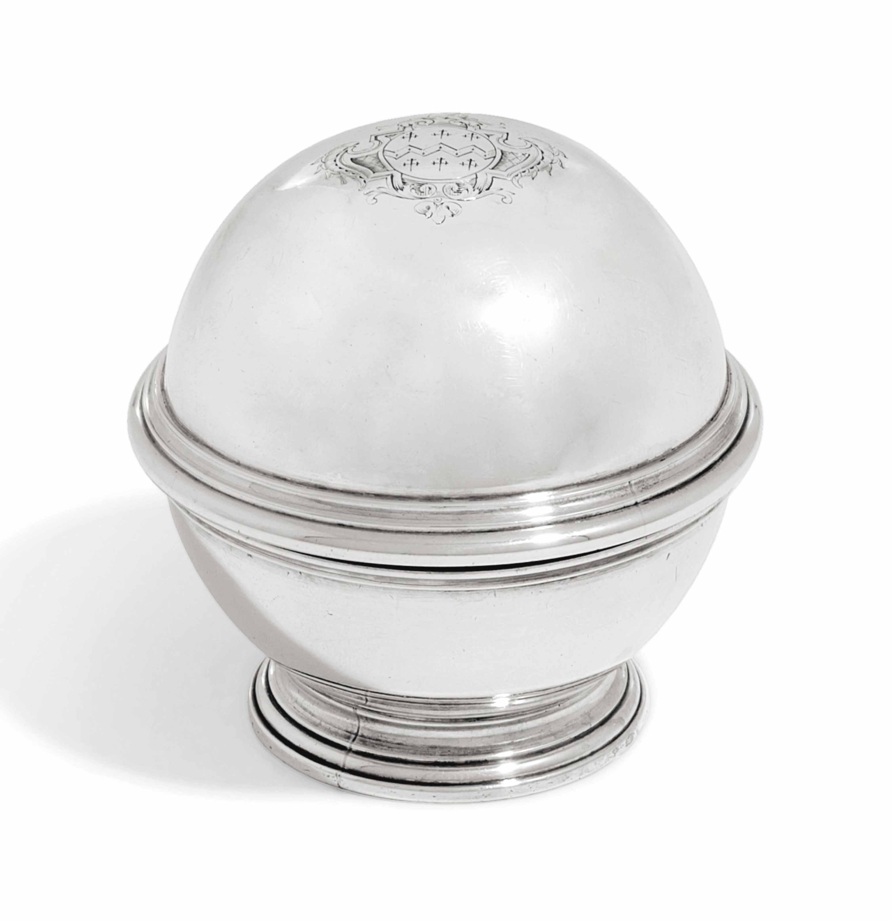 A GEORGE II SILVER SOAP-BOX
