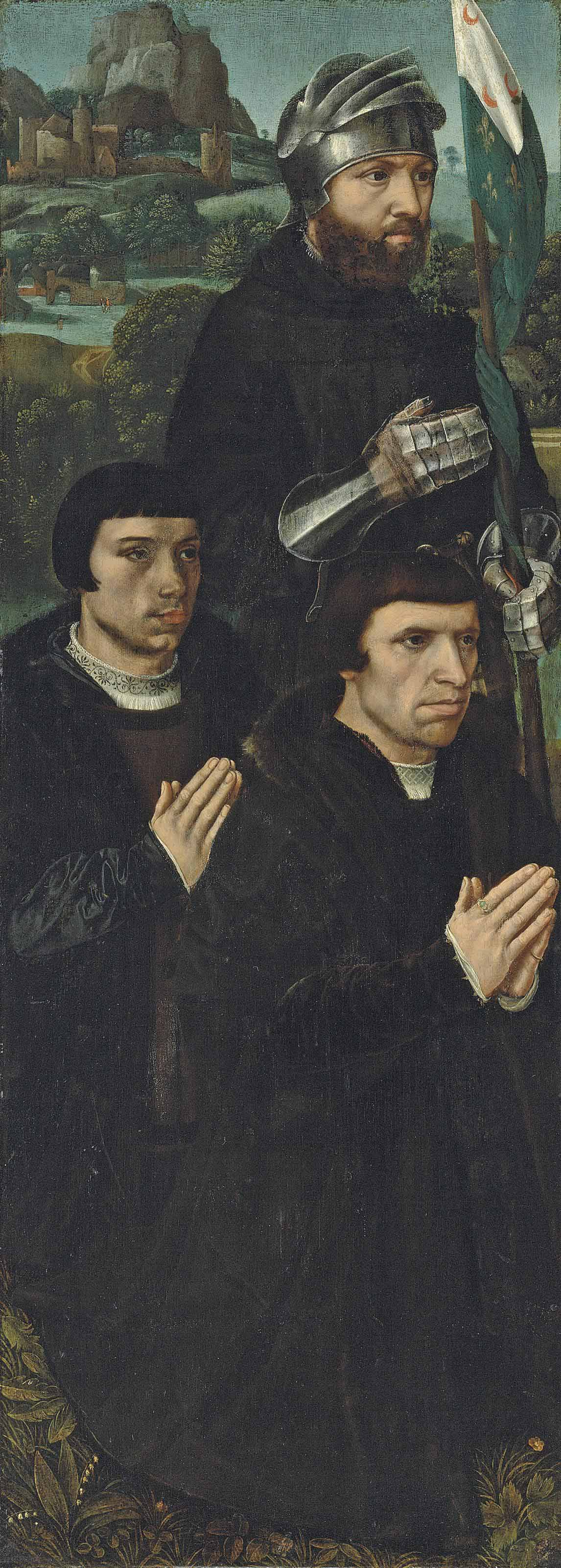 The left wing of a triptych: Saint William of Maleval with two kneeling donors