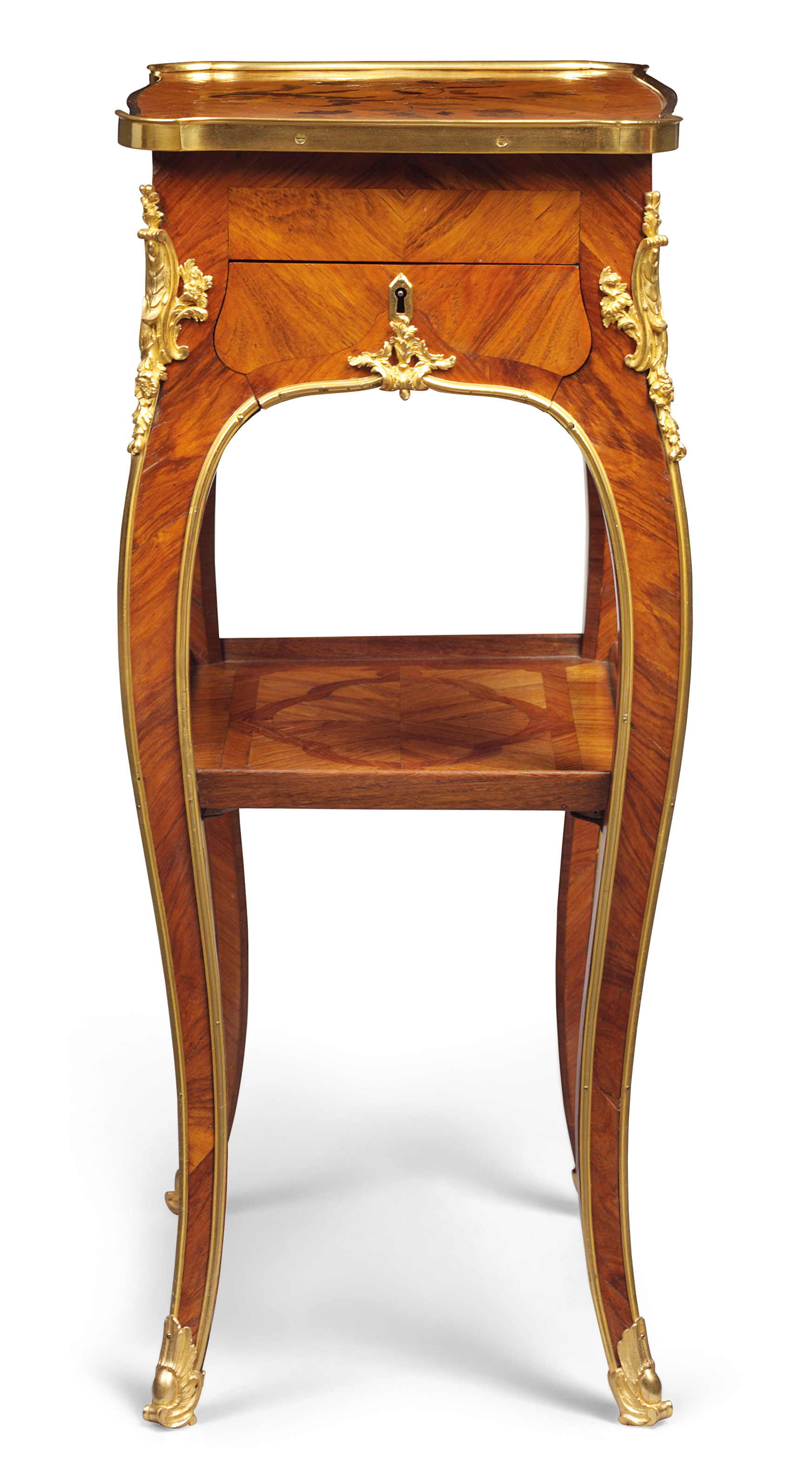 A louis xv ormolu mounted tulipwood bois satine and bois - Table de chevet louis xv ...