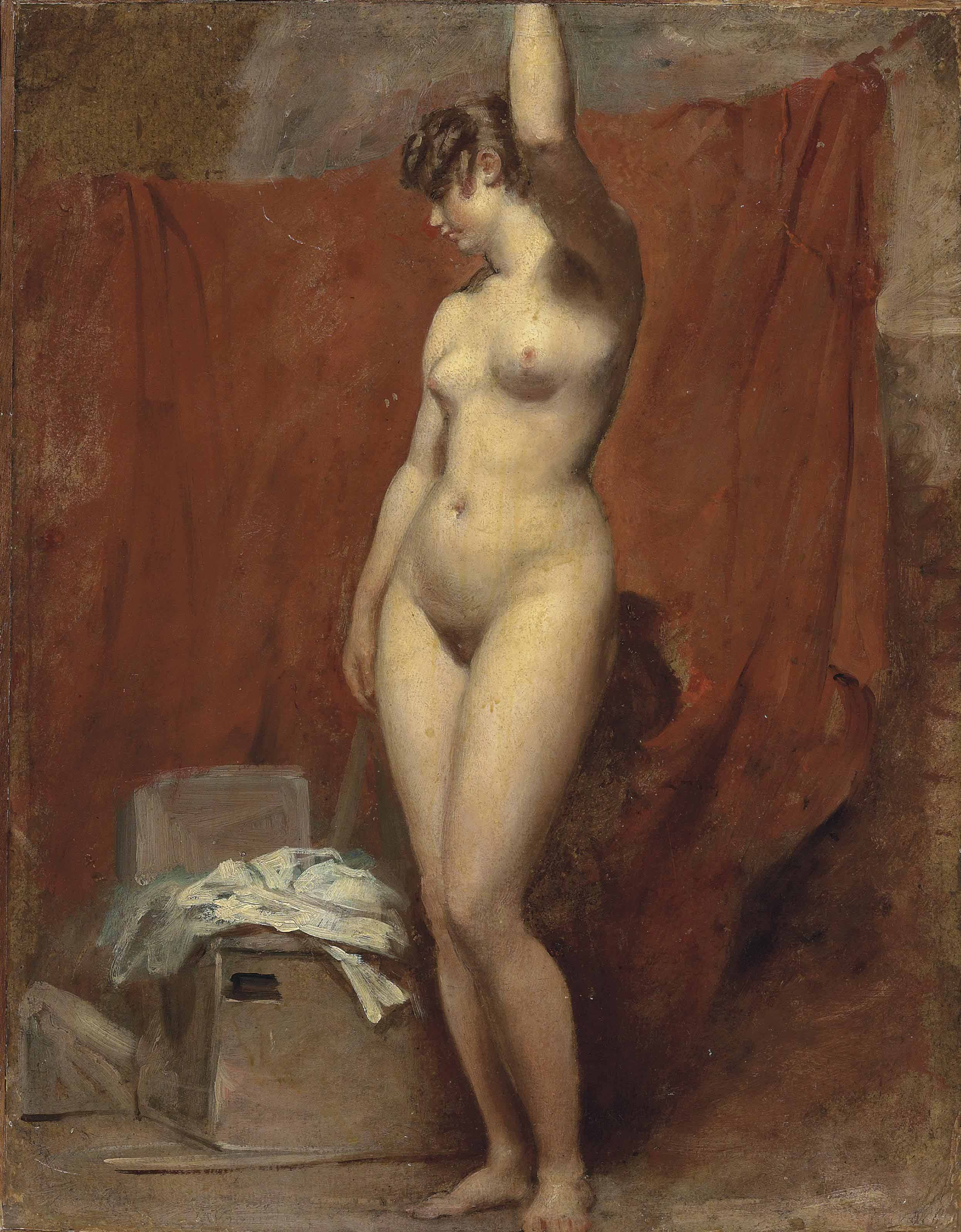 The artist's model; a female nude