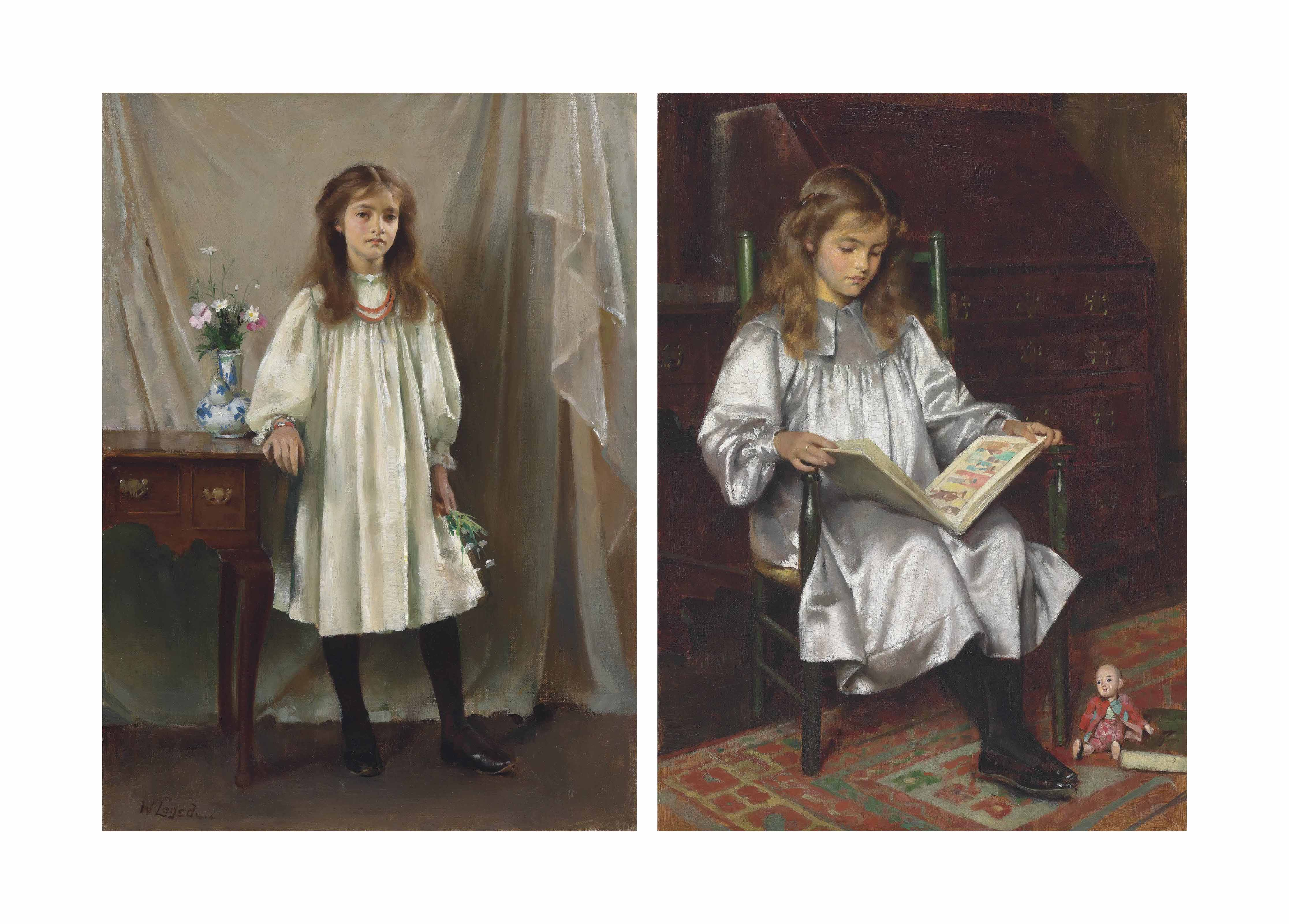 Two portraits of the artist's daughter, Mary