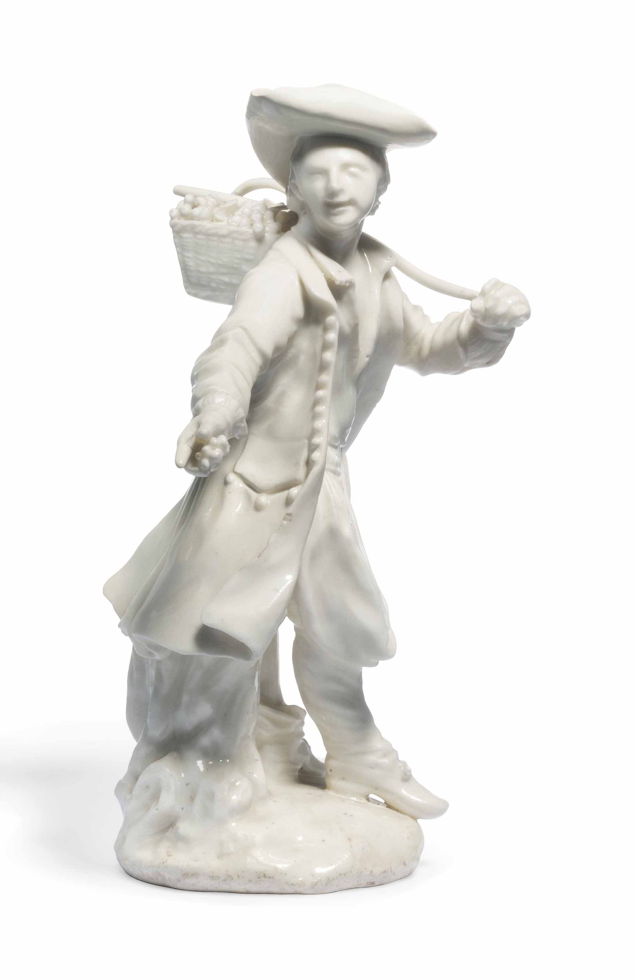 A DERBY WHITE 'DRY-EDGE' ALLEGORICAL FIGURE OF AUTUMN