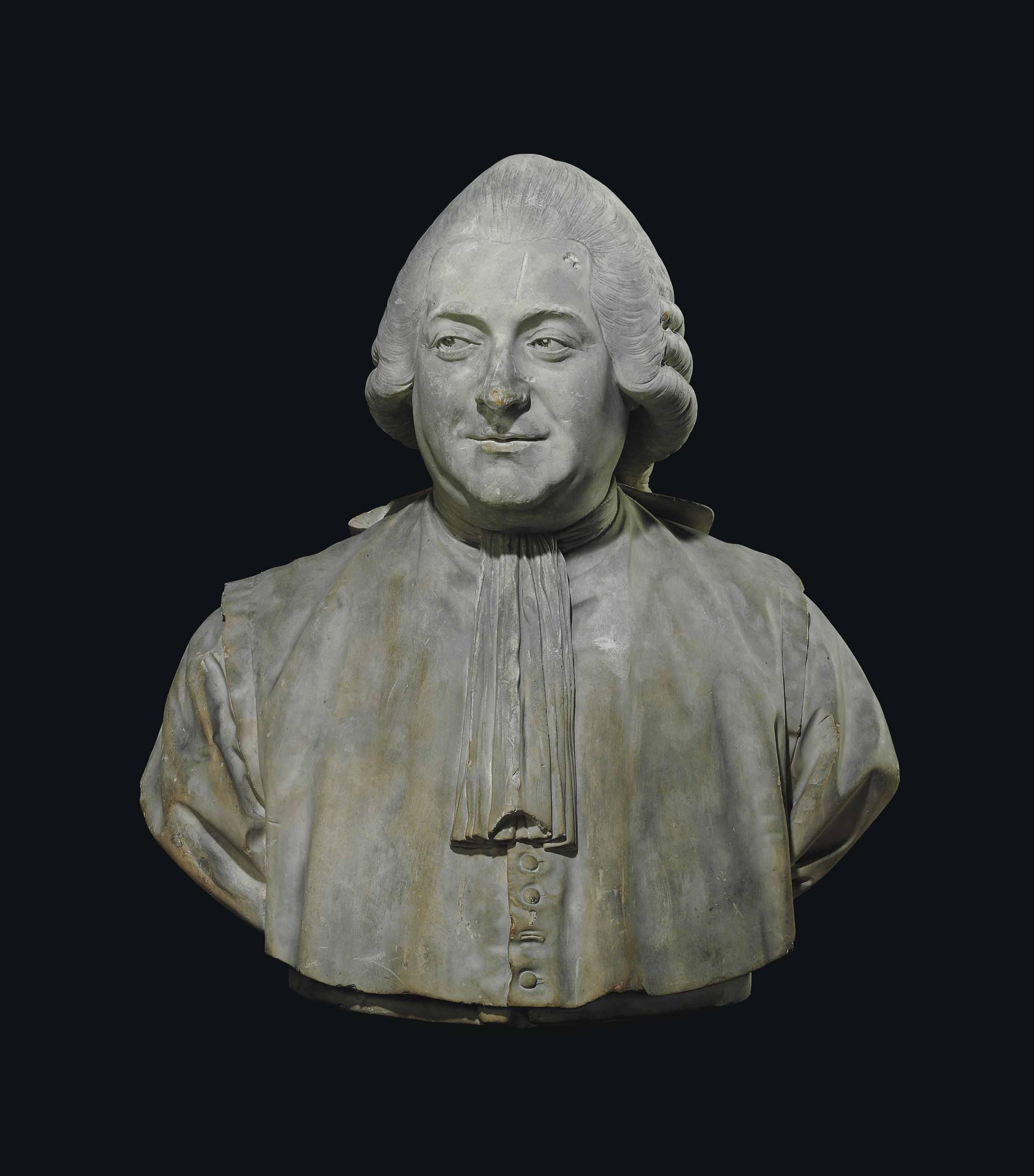 A PLASTER BUST OF JEAN-PIERRE-CHARLES LE NOIR (1732-1807)