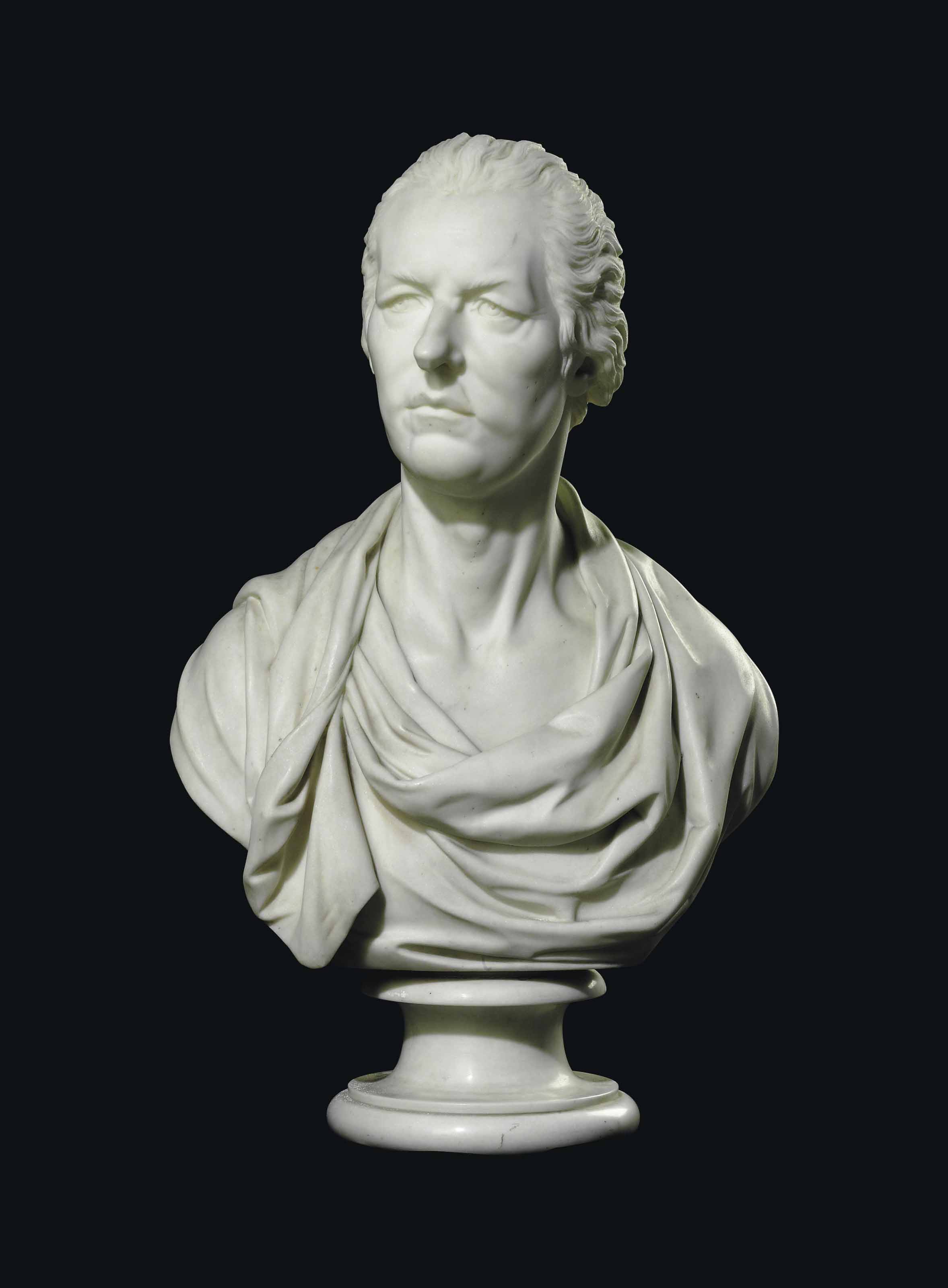A MARBLE BUST OF WILLIAM PITT THE YOUNGER