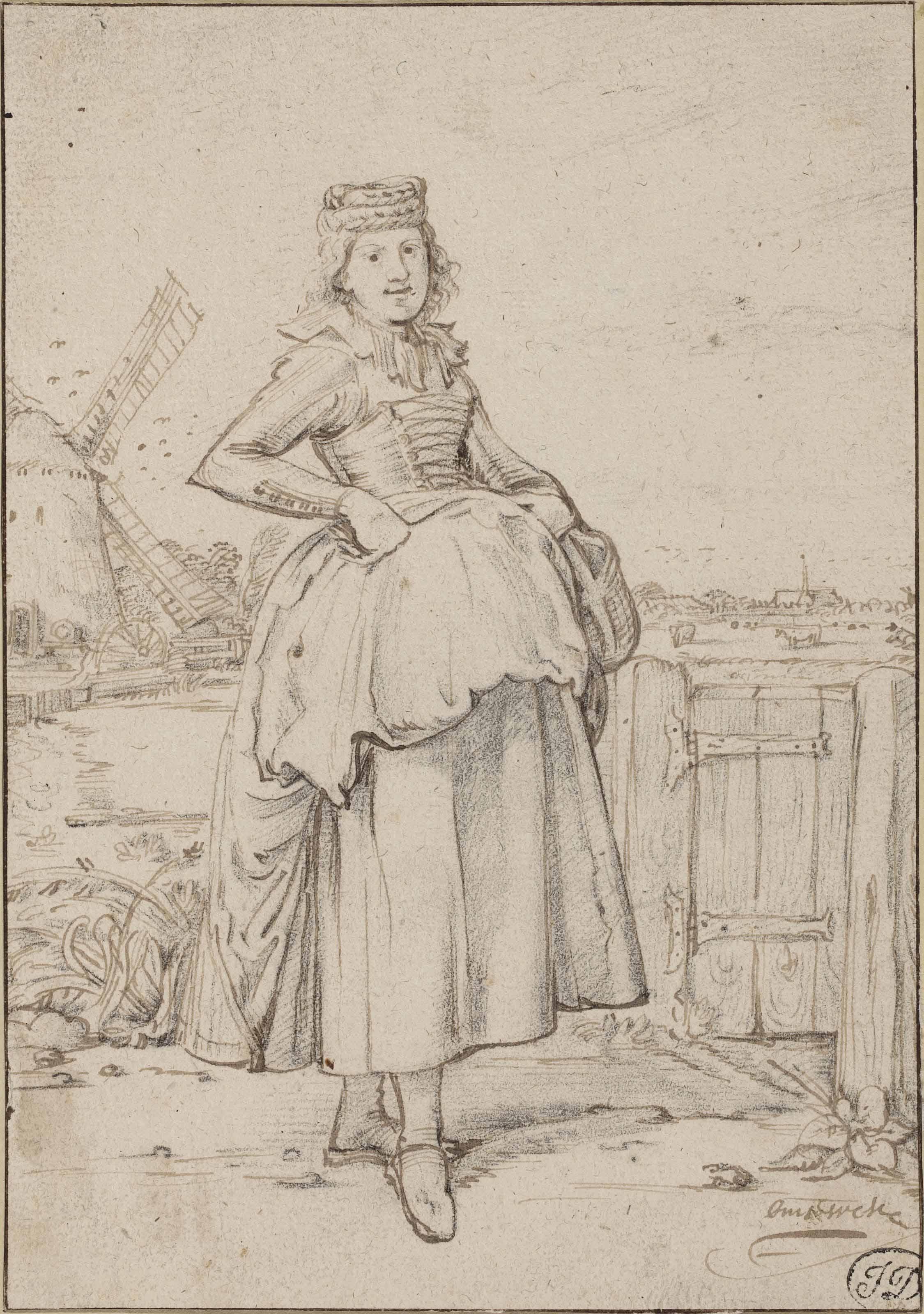 A peasant girl from Alkmaar