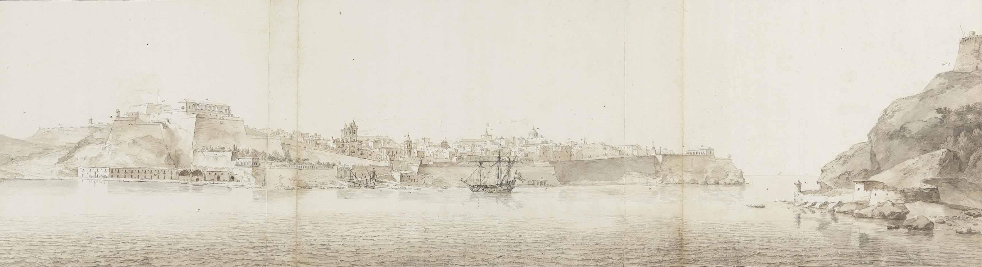 View of Valletta on the island of Malta, seen from Senglea