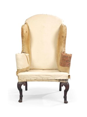 A George I Walnut Wing Armchair Circa 1715 Christie S