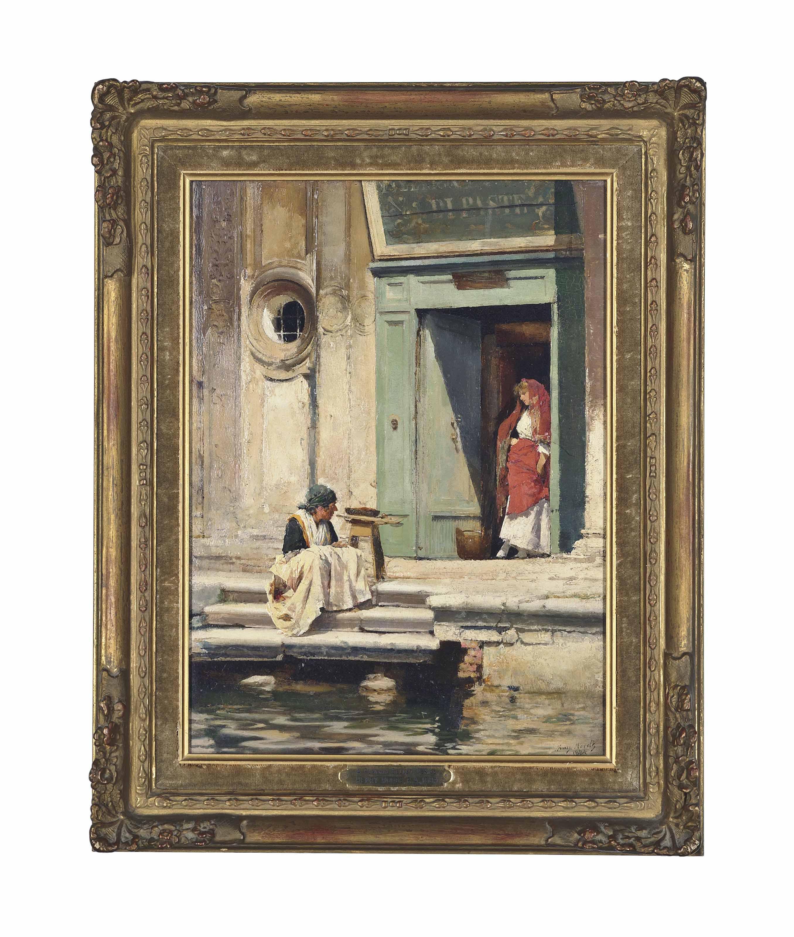 A zucca seller, Venice