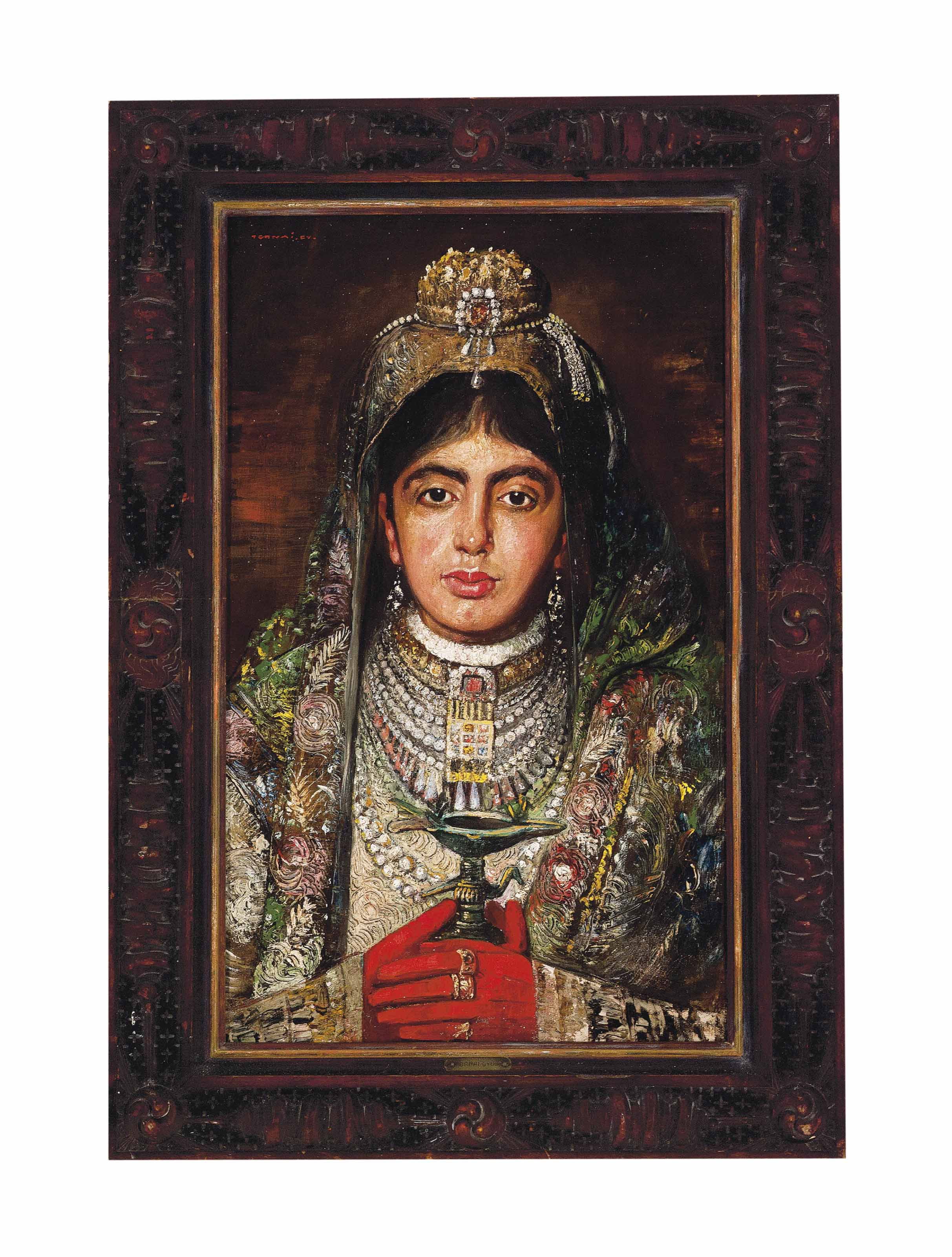 The wife of the Maharaja of Burdwan