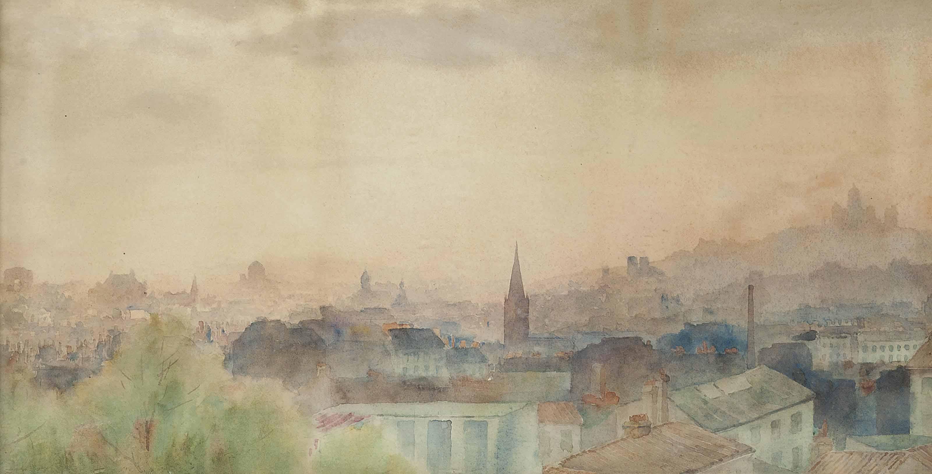 View from Père Lachaise, Paris.
