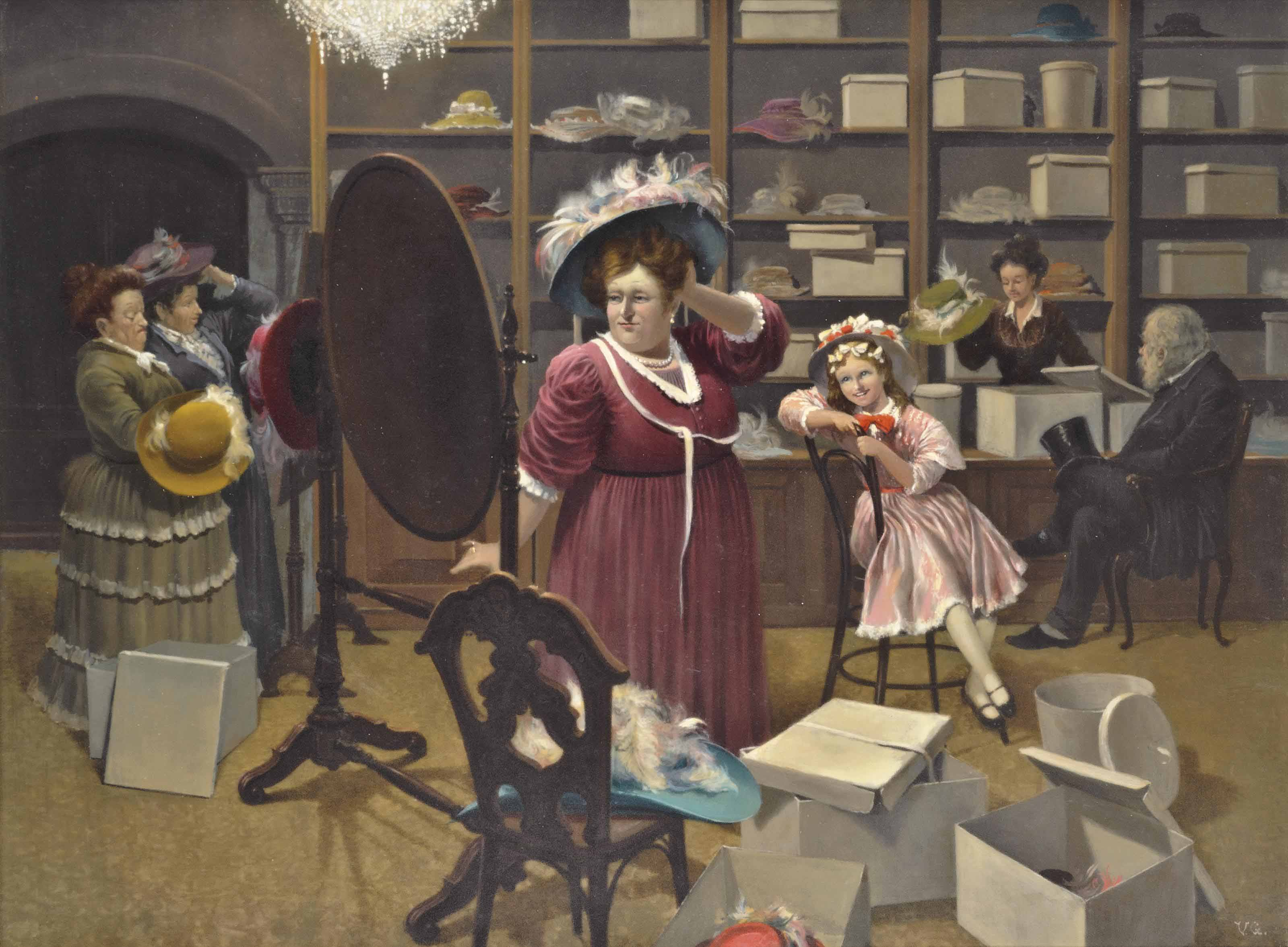 At the milliner's