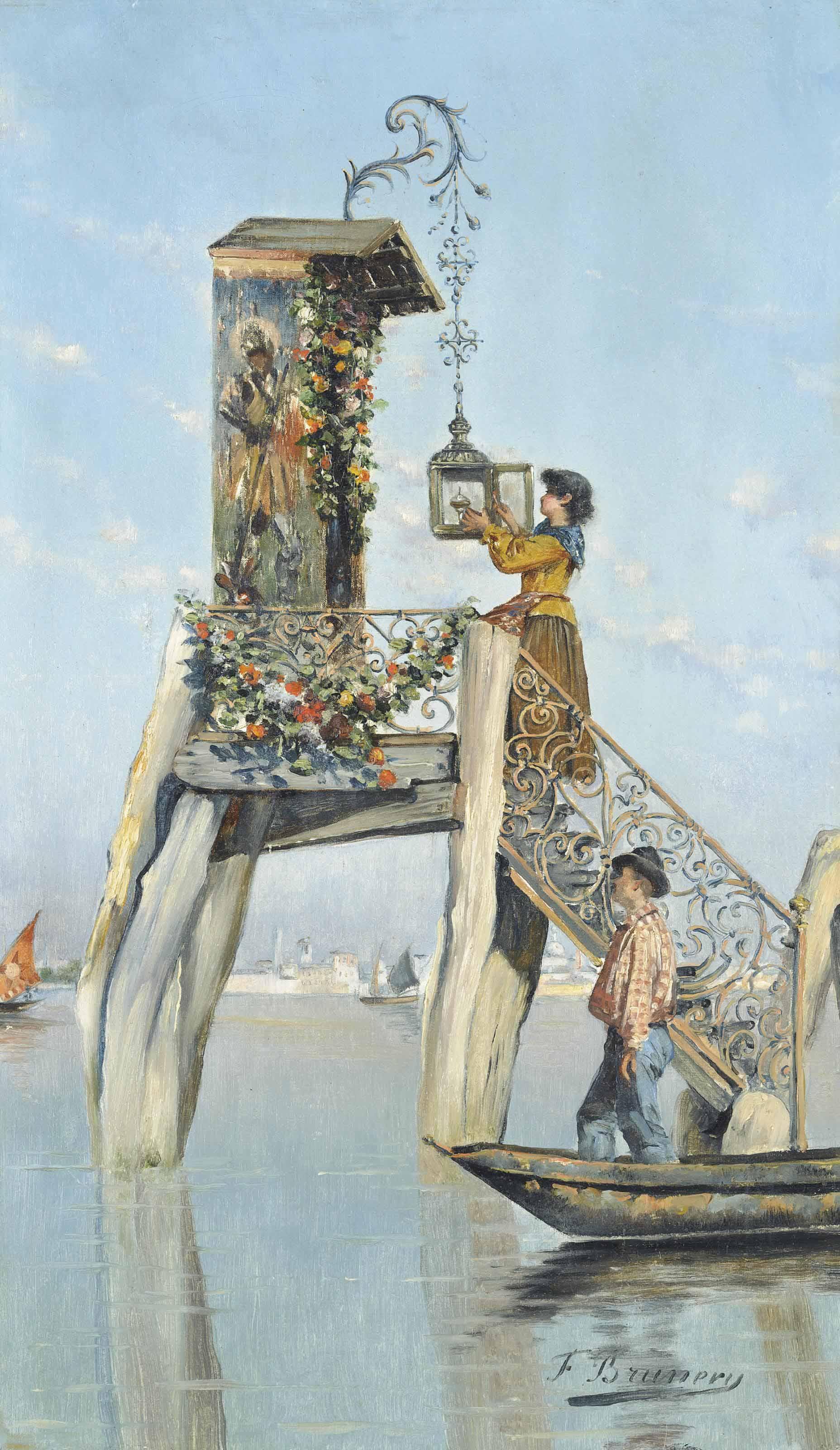 An offering on the Venetian lagoon